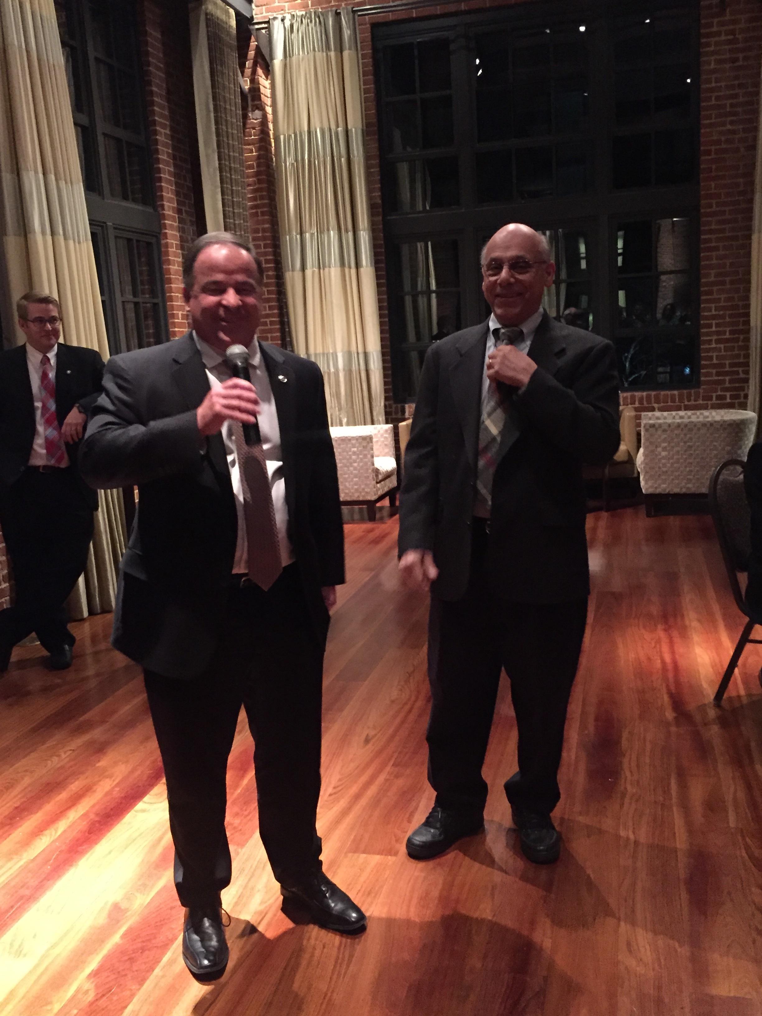 Tony Disalle Buick VP Marketing and Les Jackson, WAPA President