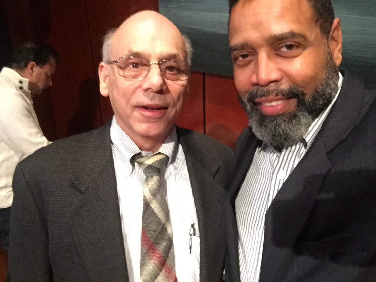 Marvin Bowser and Les Jackson, WAPA President