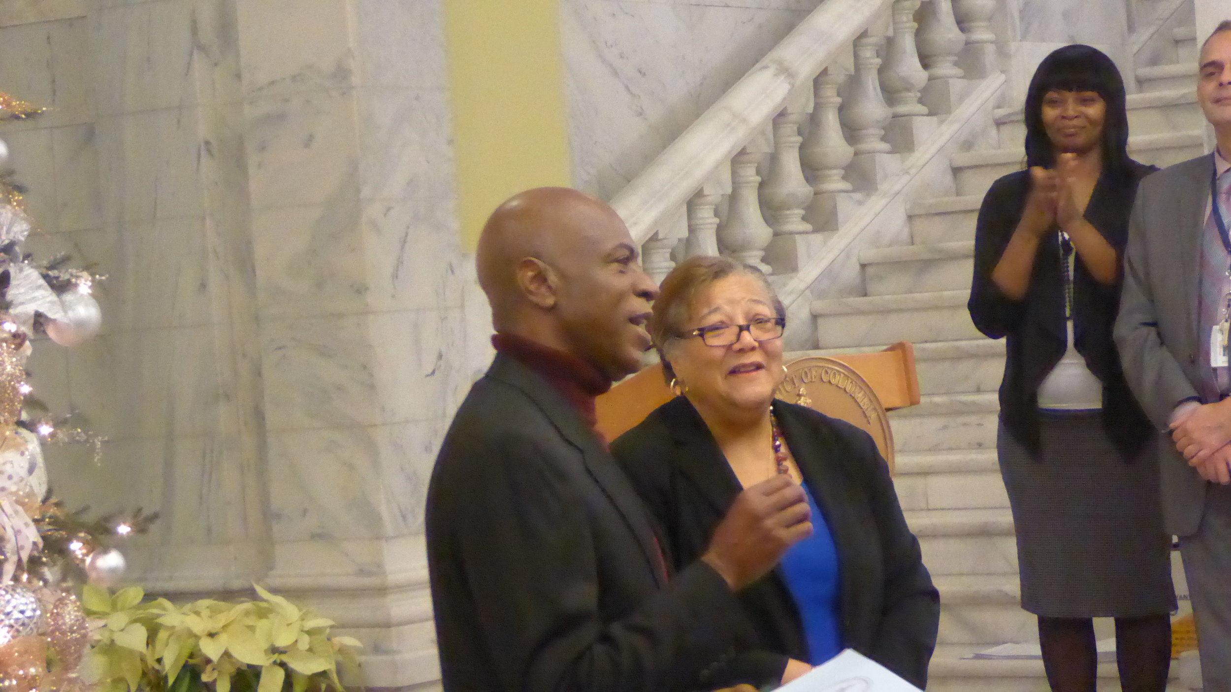 Phinis Jones received special recognition for his 5 decades working East of the River