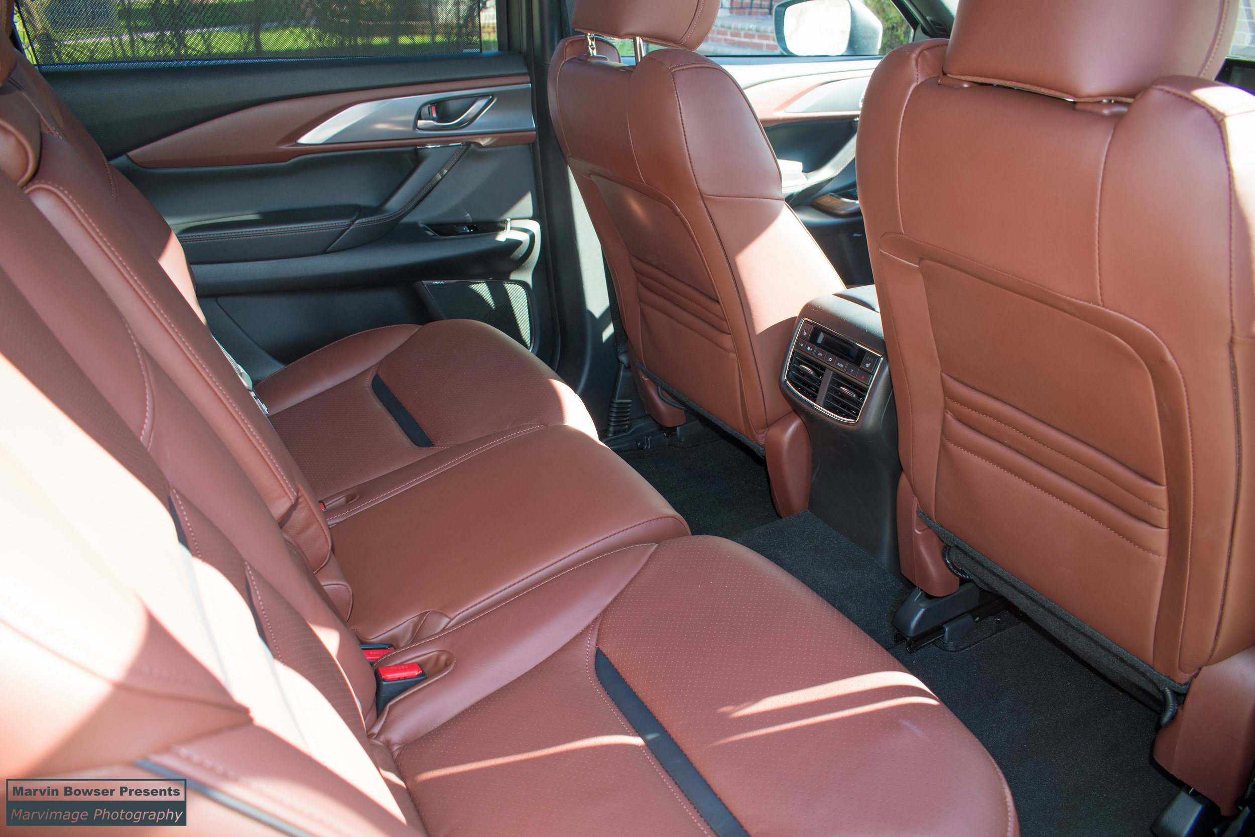 Rear seat heater and HVAC controls