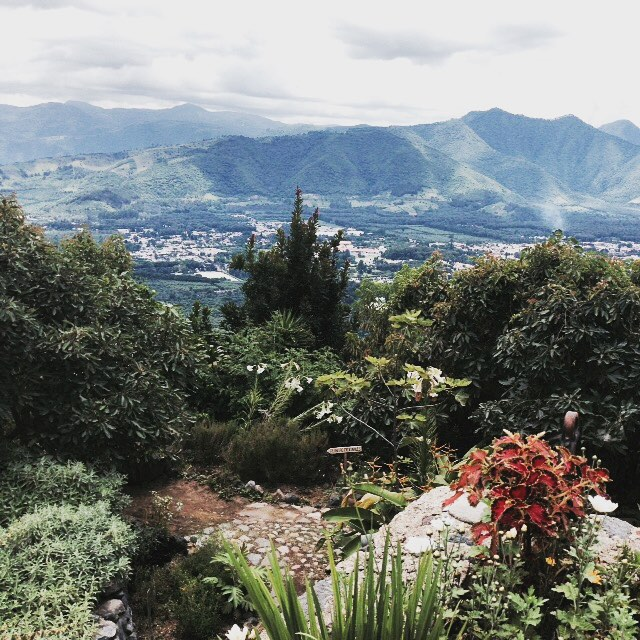 Overlooking Antigua from the highlands