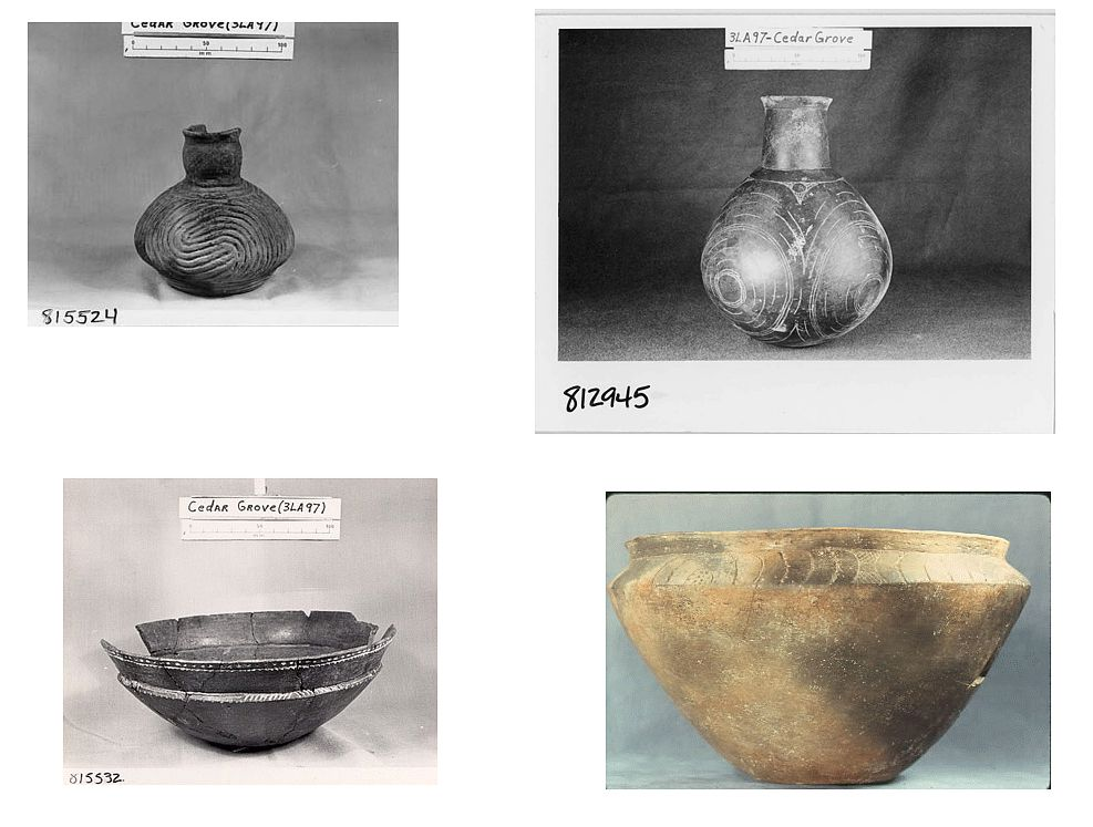 Samples of Caddoan Pottery