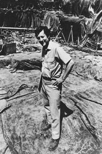 Stuart Struever on location at a dig.