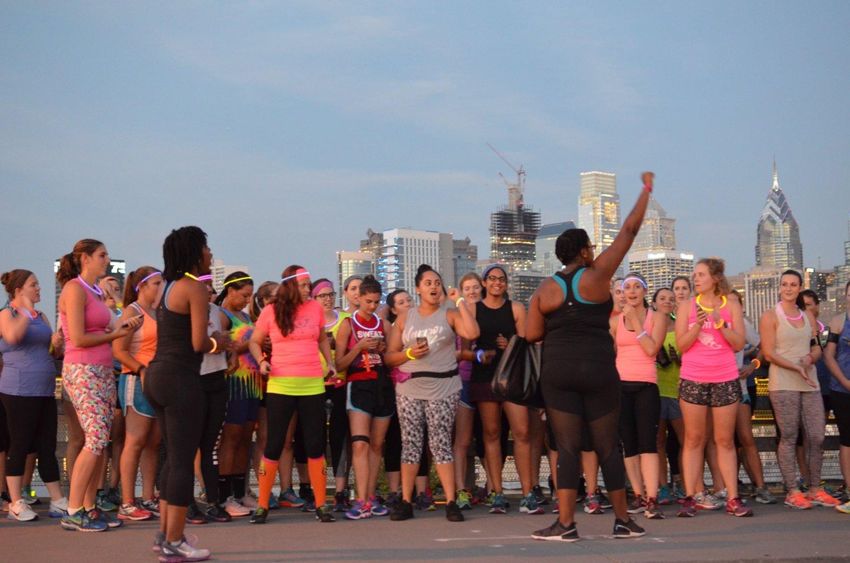 City Fit Girls Co-Founders Takia & Kiera kicking off the Ghost Race