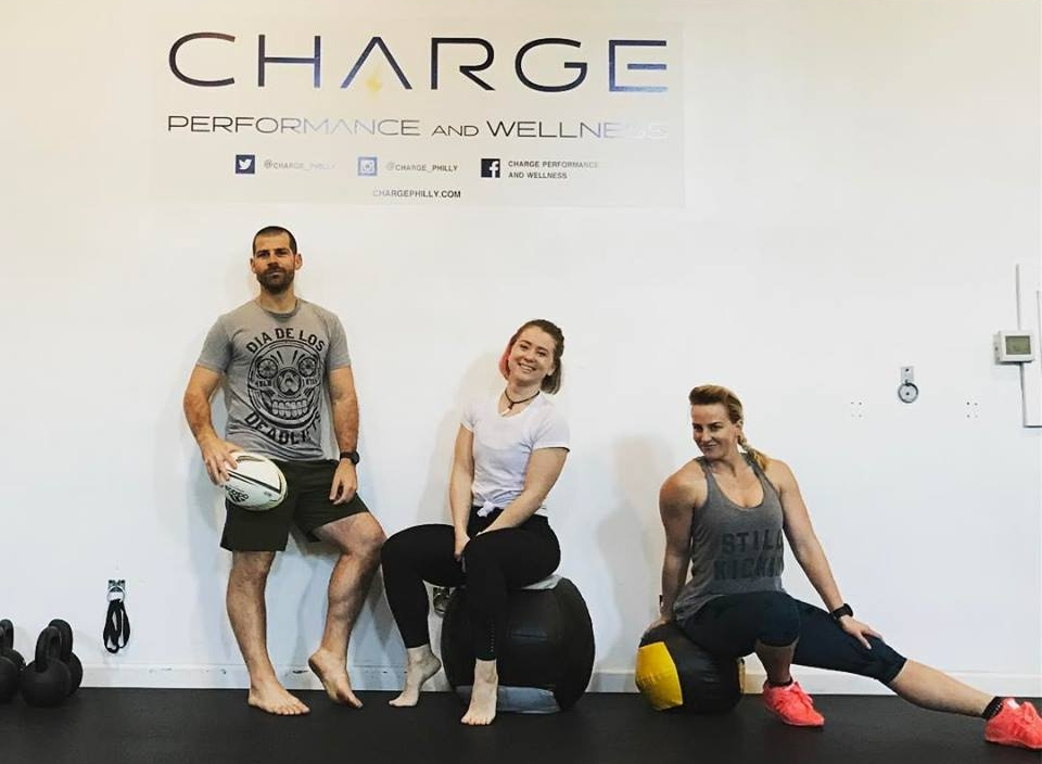 Charles Scogna and staff members at Charge Performance and Wellness