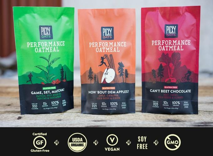 Picky Oatmeal Flavors, photo via Picky Oatmeal on Kickstarter