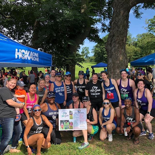 What a day! 5 races and 20+ City Fit Girls crushing @phillymayorscup 😍 We had a great time running and partying with the local running community. Thanks @hokaoneone for hooking us up with the tent and swag! If you're in Philly and want to try Hoka shoes, stop by @phillyrun!! #cityfitgirls #myphillyrun #run215