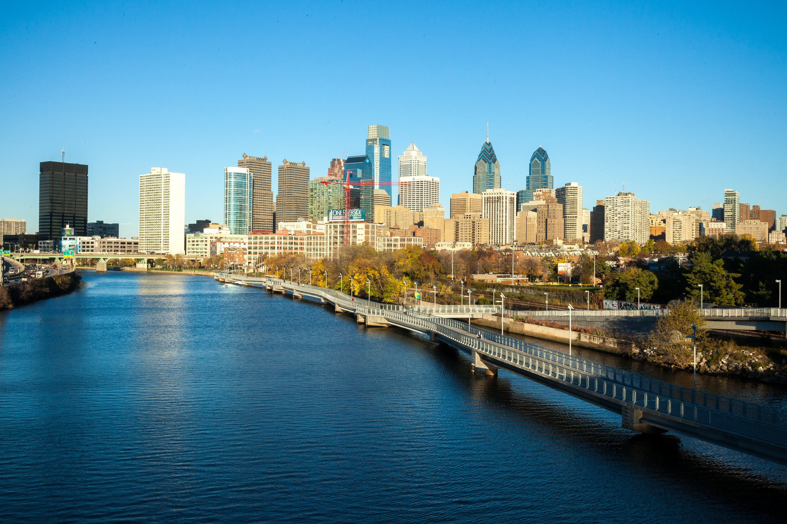 The Schuylkill River Trail in Center City, Philadelphia. Photo credit: the Circuit Trails