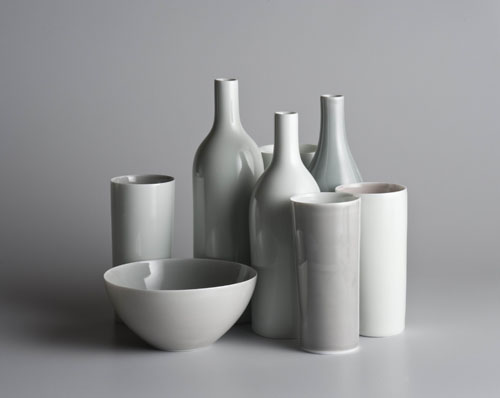 Cluster with grey bowl  2009  Gwyn Hanssen Pigott  Translucent porcelain Source: Rex Irwin Art Dealer