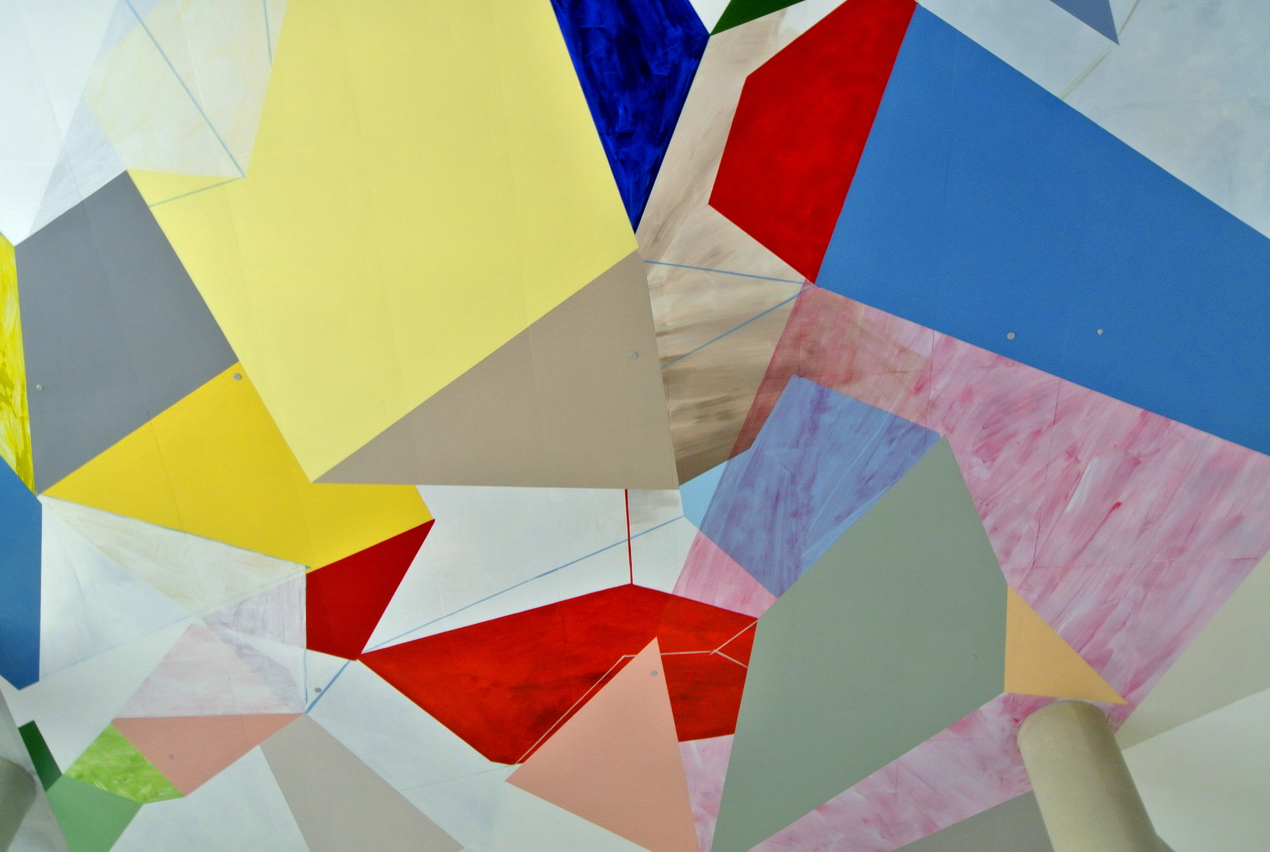 Collision and Improvisation (Ceiling)  2012  Gemma Smith  Acrylic on concrete Source: Author