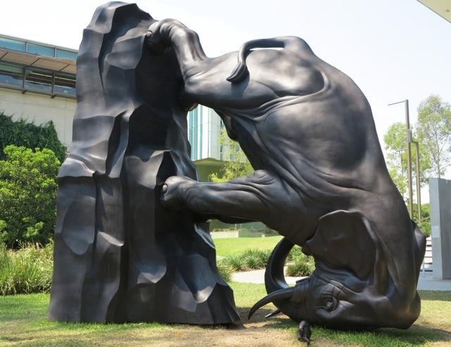 The World Turns      2011-12  Michael Parekowhai  Bronze. photo:  Debra Kolkka
