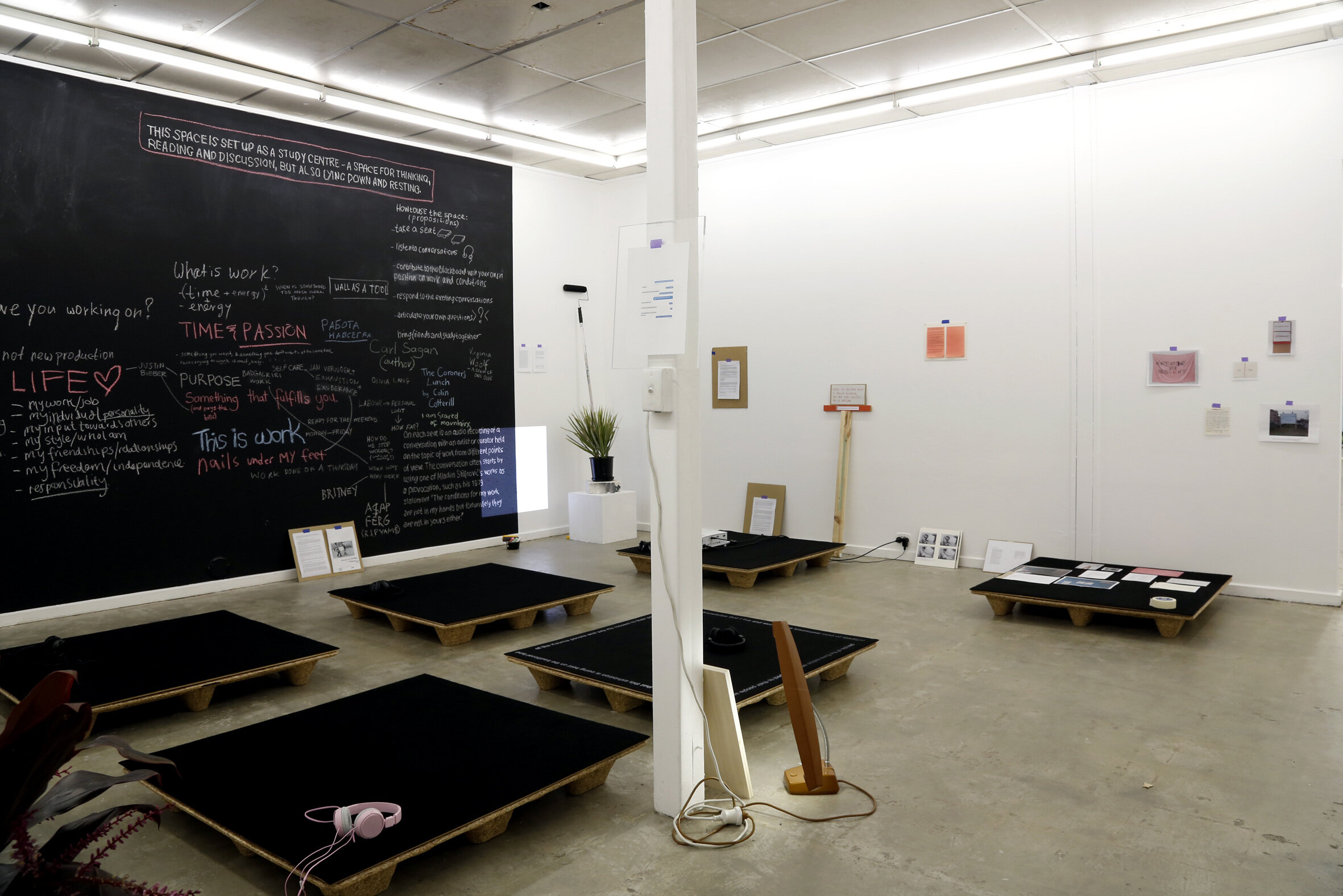 Installation view:  Mladen Stilinović Study Centre: On Work,  Sister, Adelaide, 2018. photo: Alycia Bennett and Grace Marlow