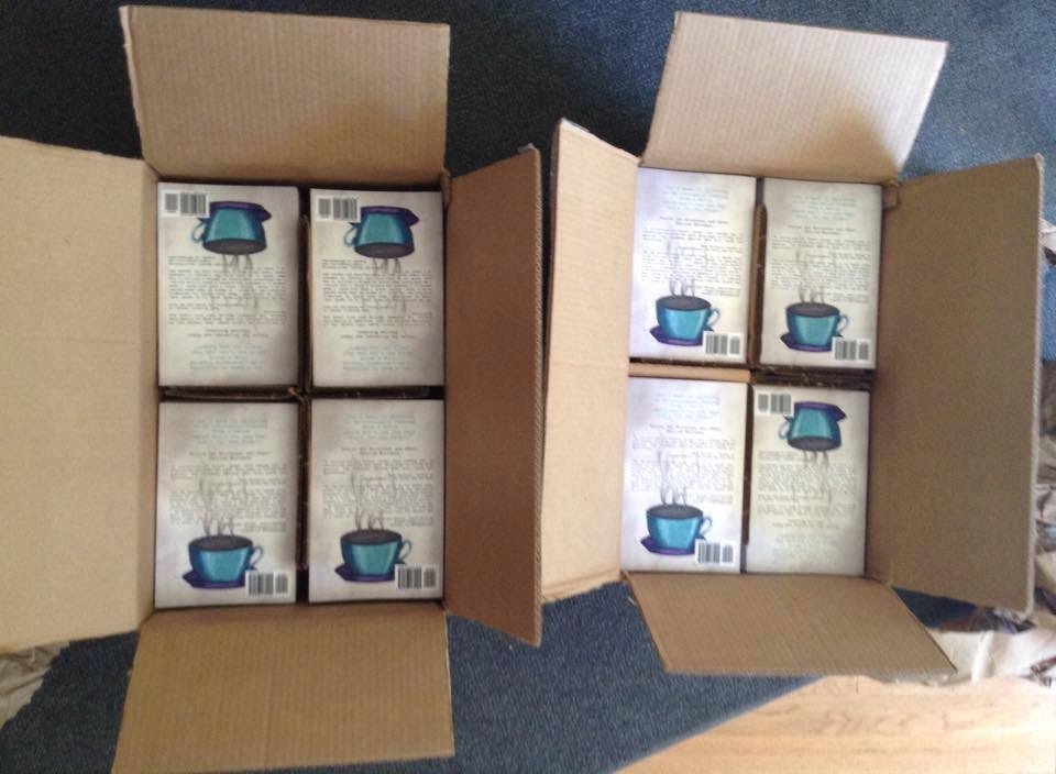 The first printing of  Nicoteane and Other Foolish Mistakes  arrives from the publishers. 2015 (a.j.k. archives)