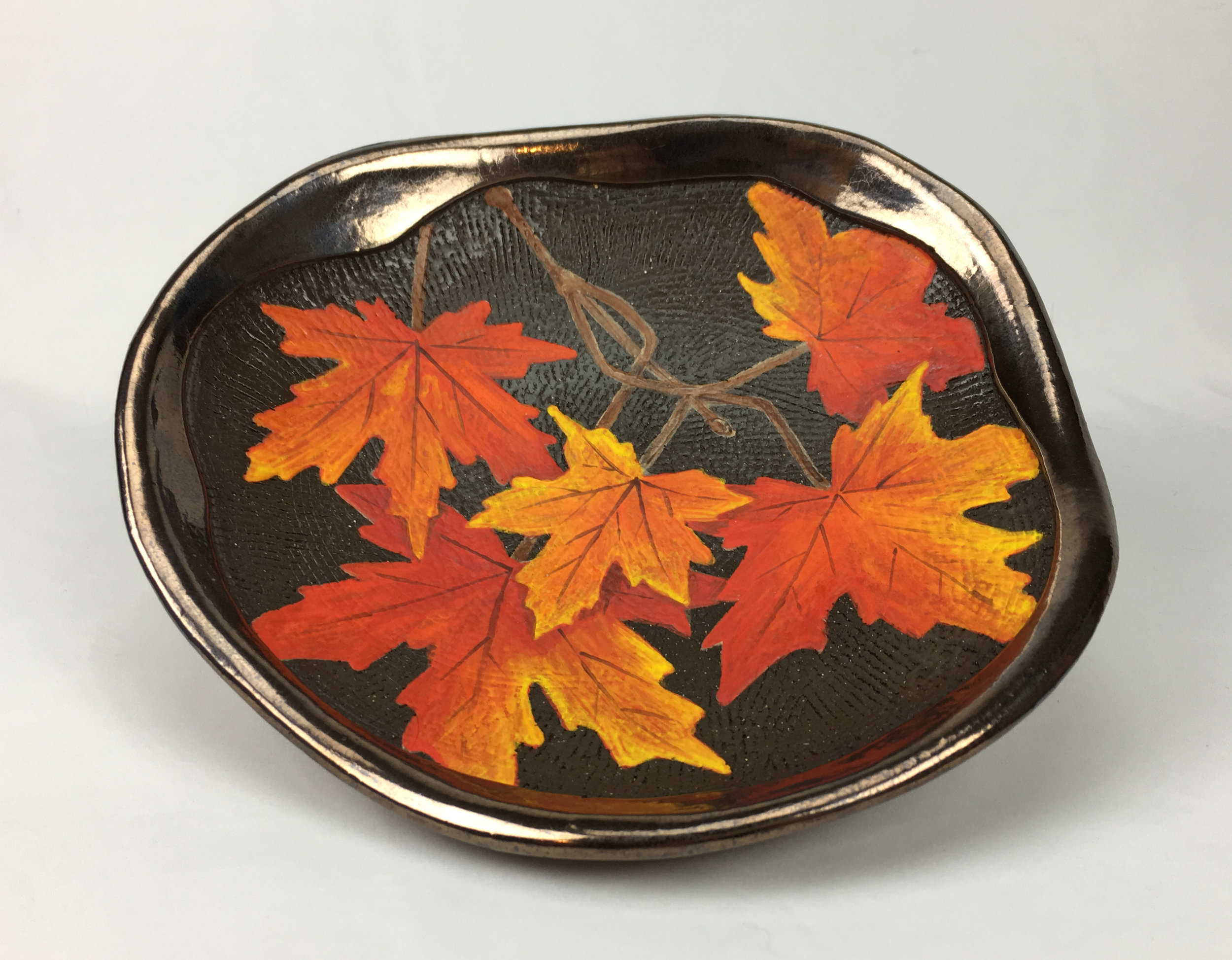 Plate with Maple Branch