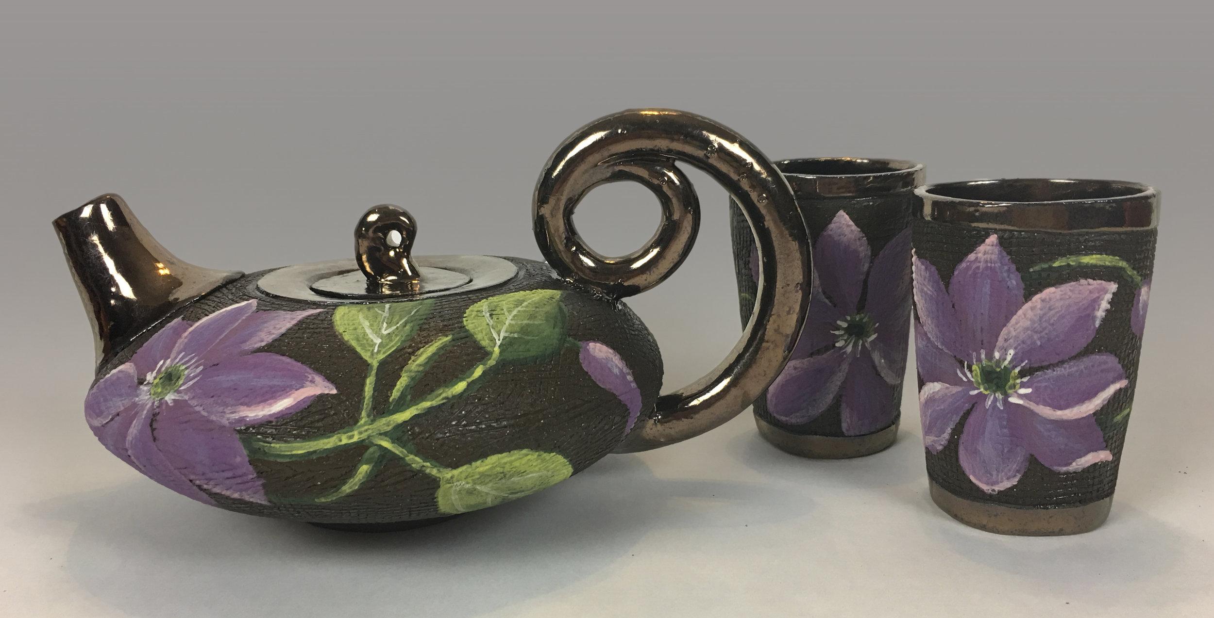 Tea Set with Clematis