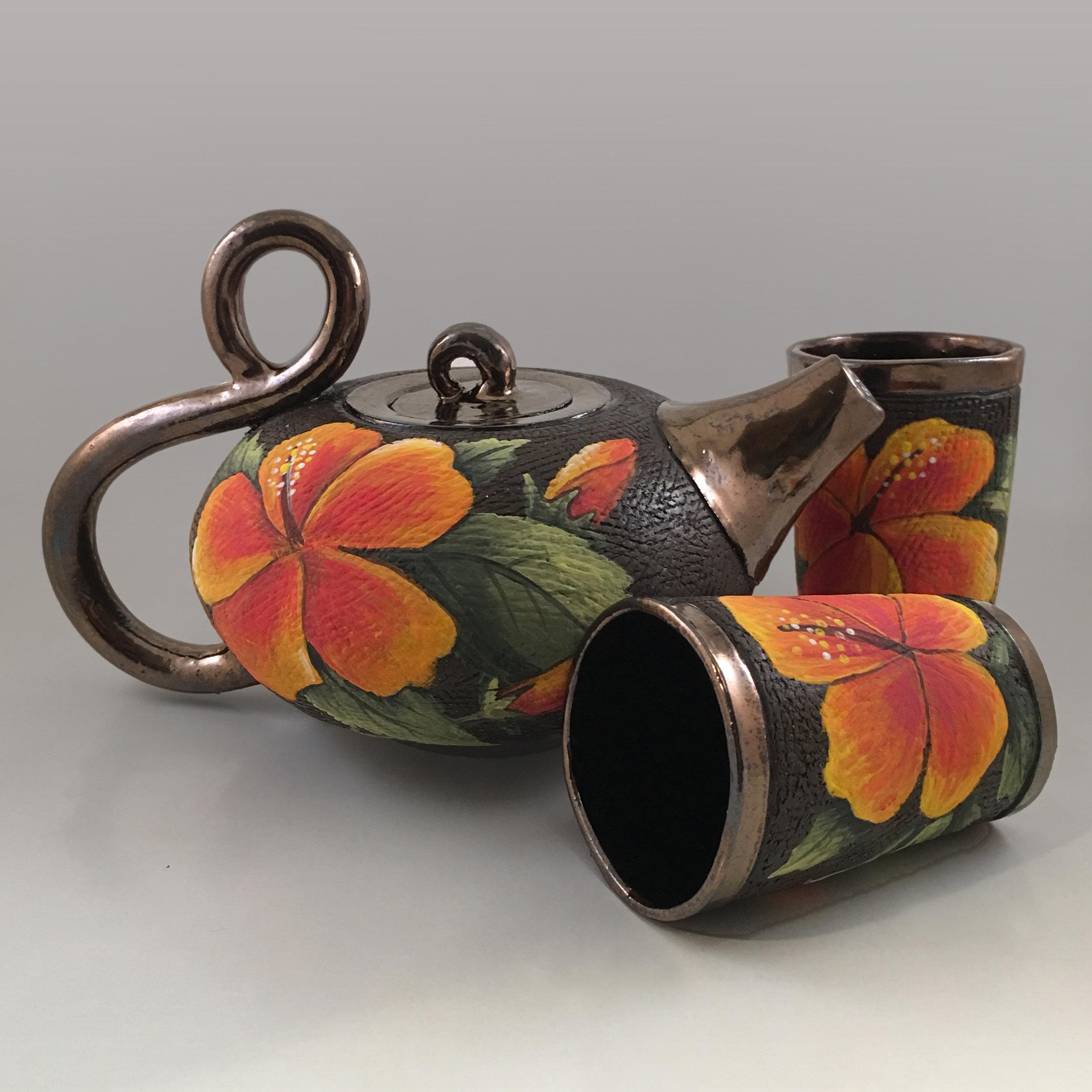 Hibiscus Tea Set