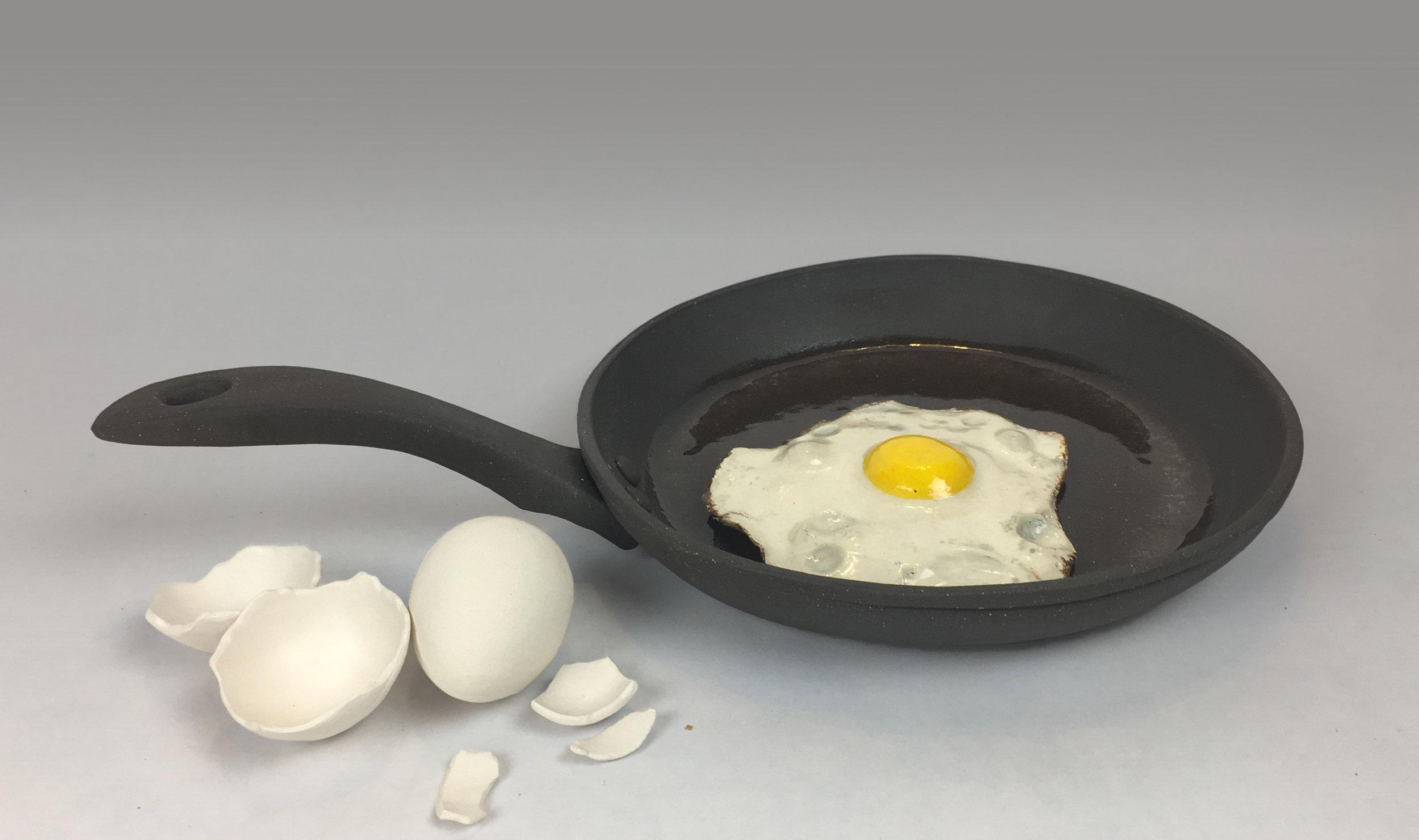 Skillet with Fried Egg