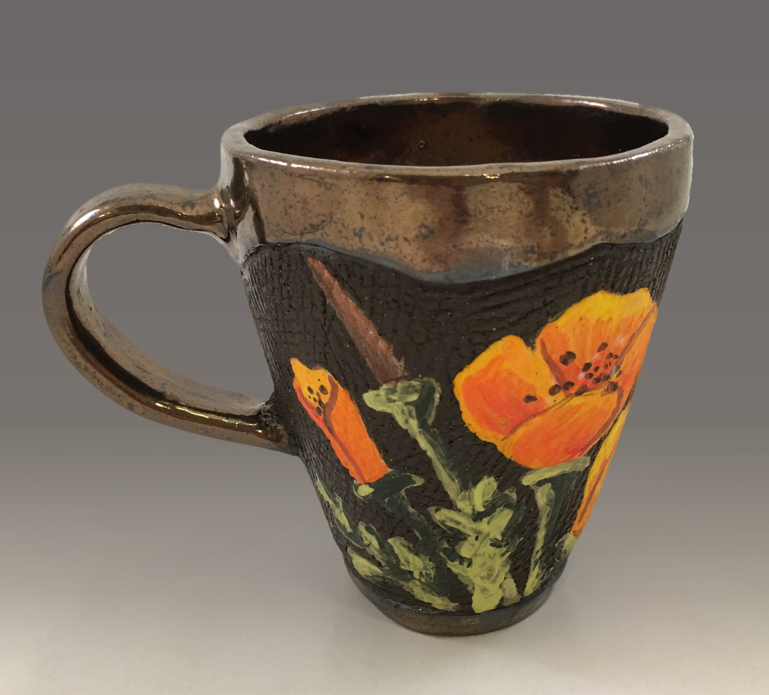 Cup with Spring Poppy