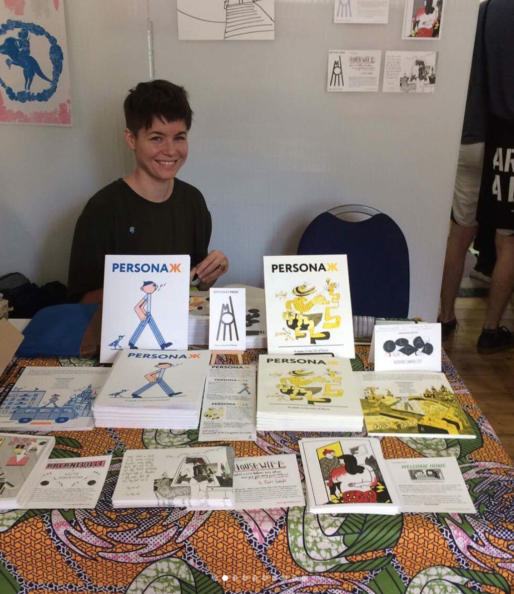 Sari with copies of PersonaЖ at ELCAF, 2017