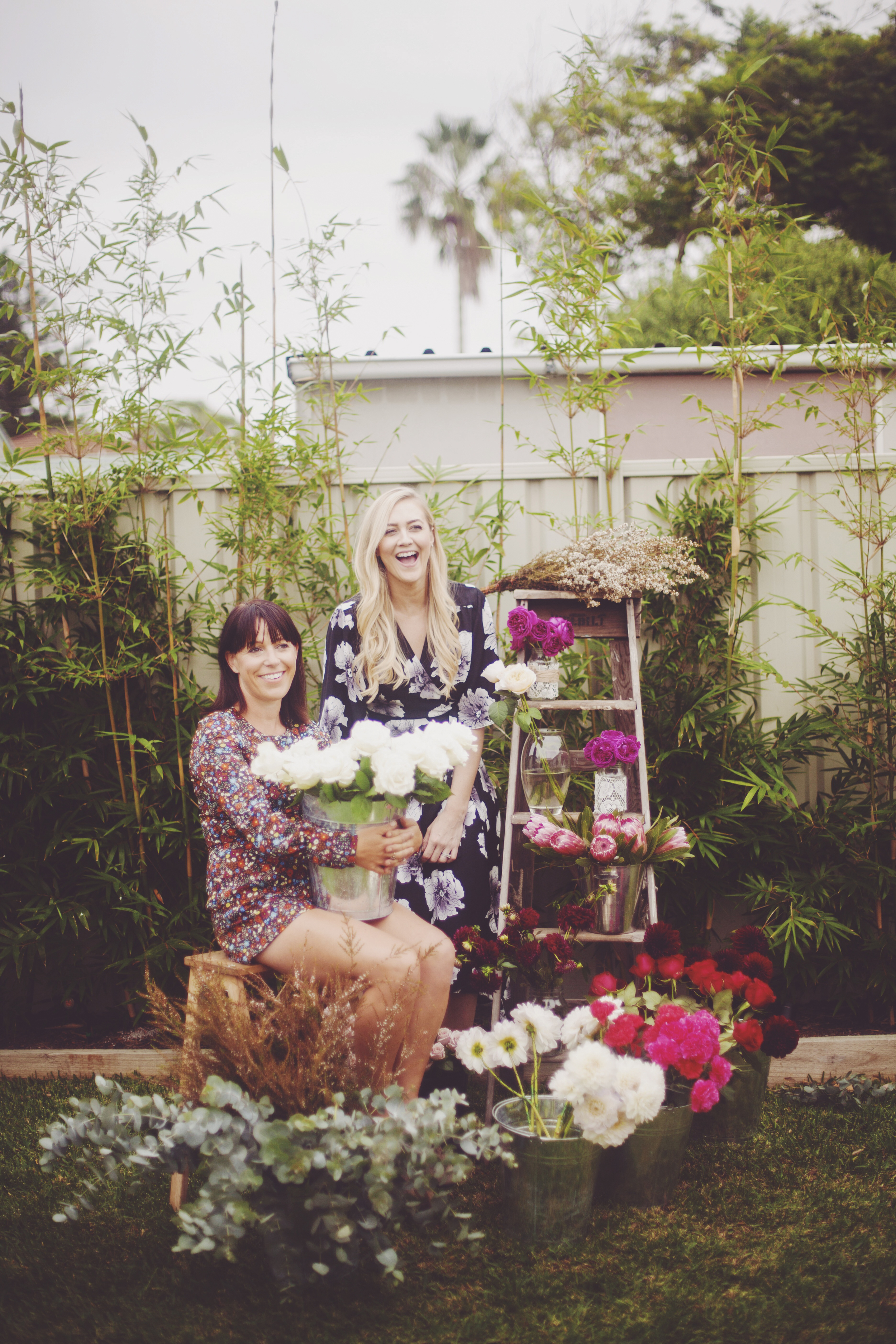 floral studio portrait shoots