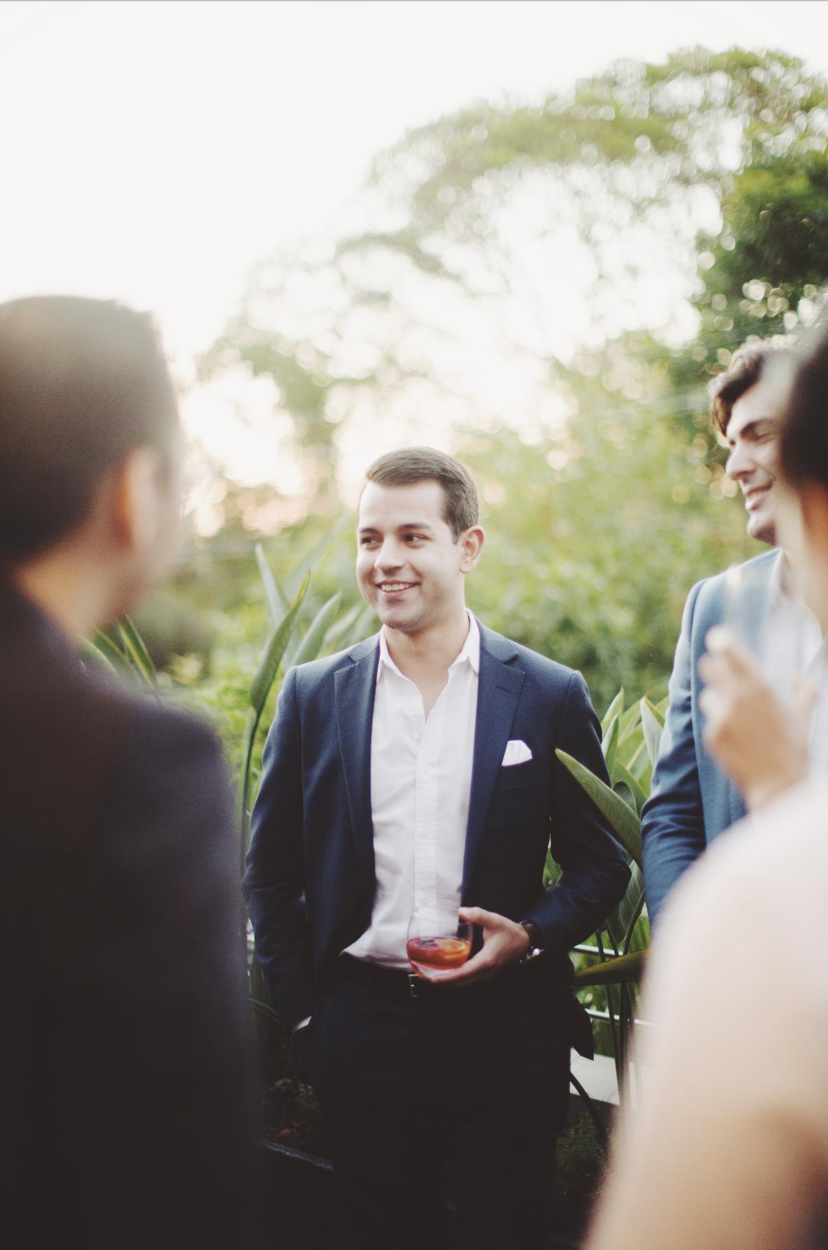 Man wearing suit smiling