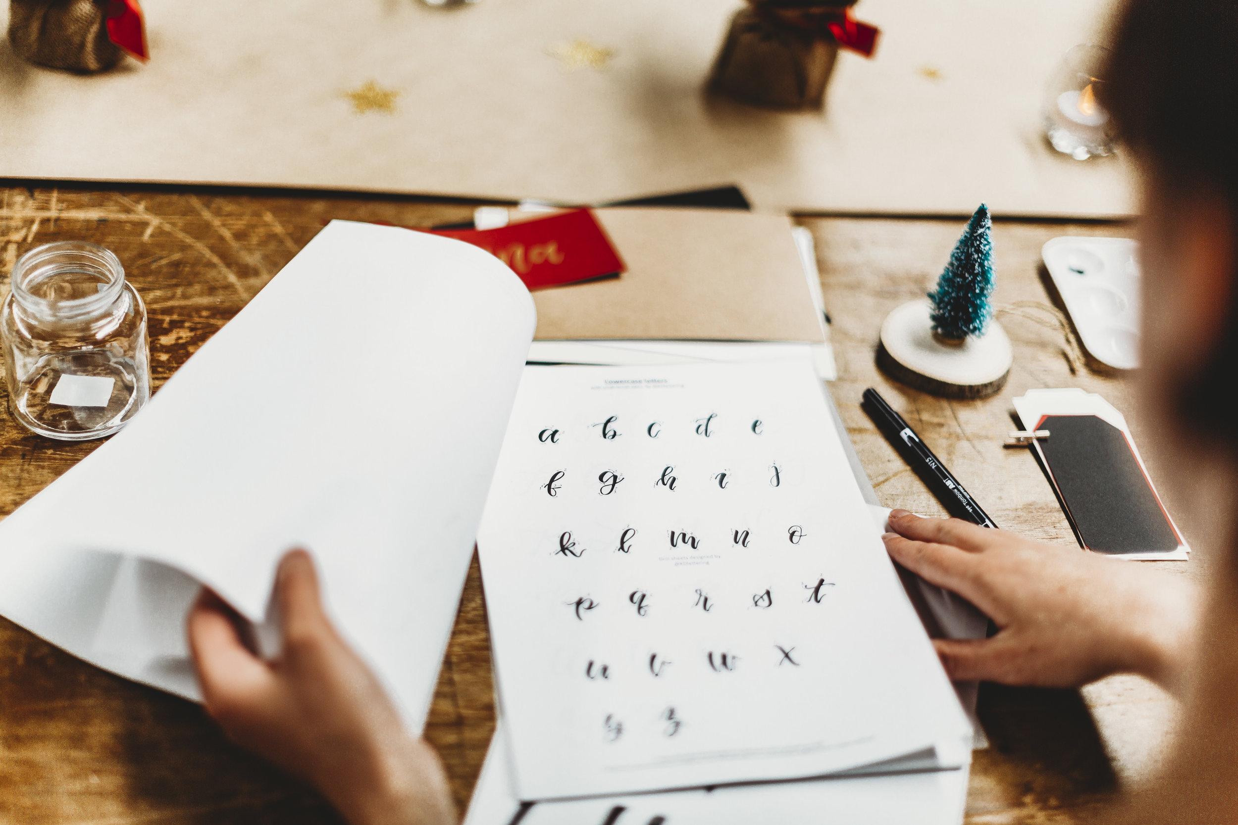 Christmas Calligraphy Event Sydney