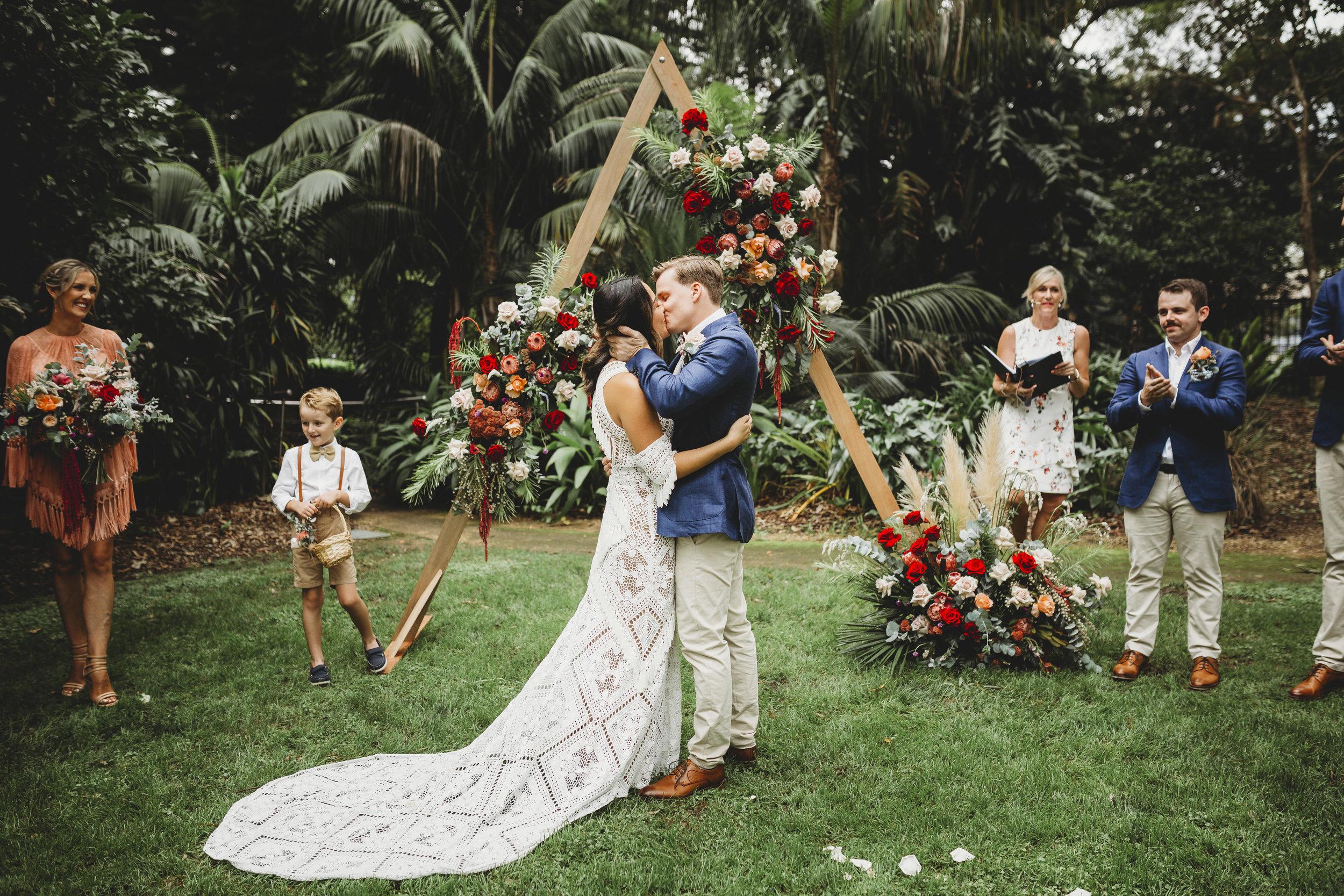 jess + curtis - A badass garden wedding