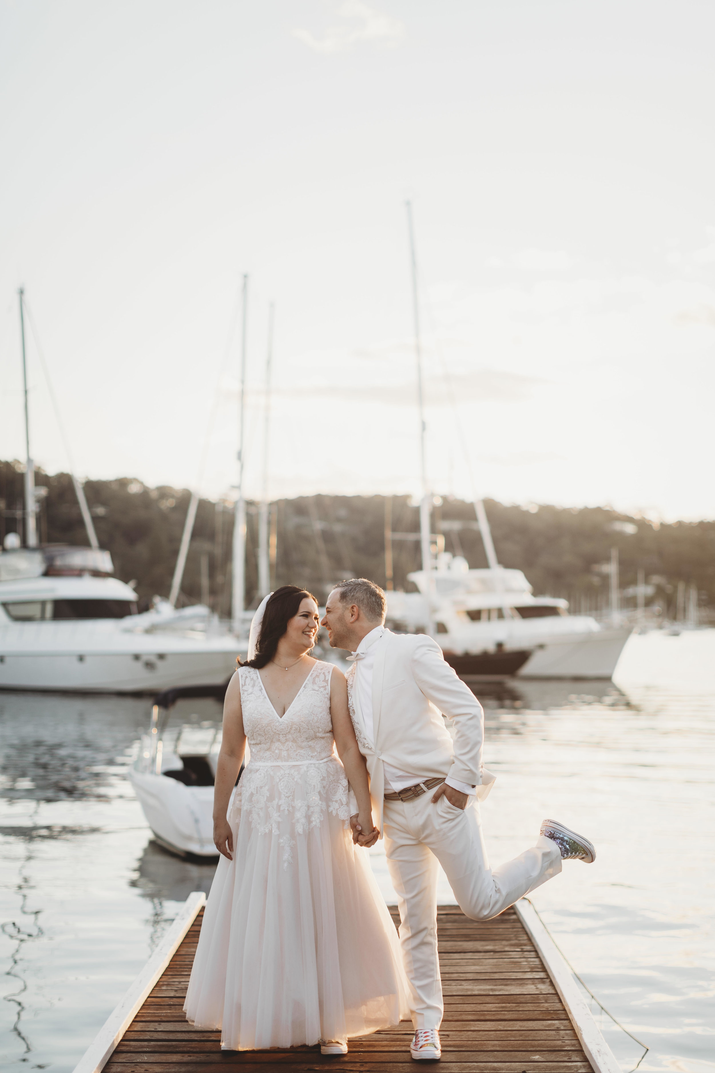 belinda + nick - and their untraditional celebration