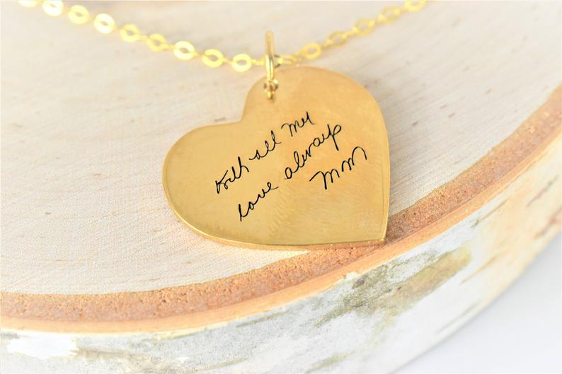 The Paper Fox Wedding Gift Guide. Handwriting Pendant