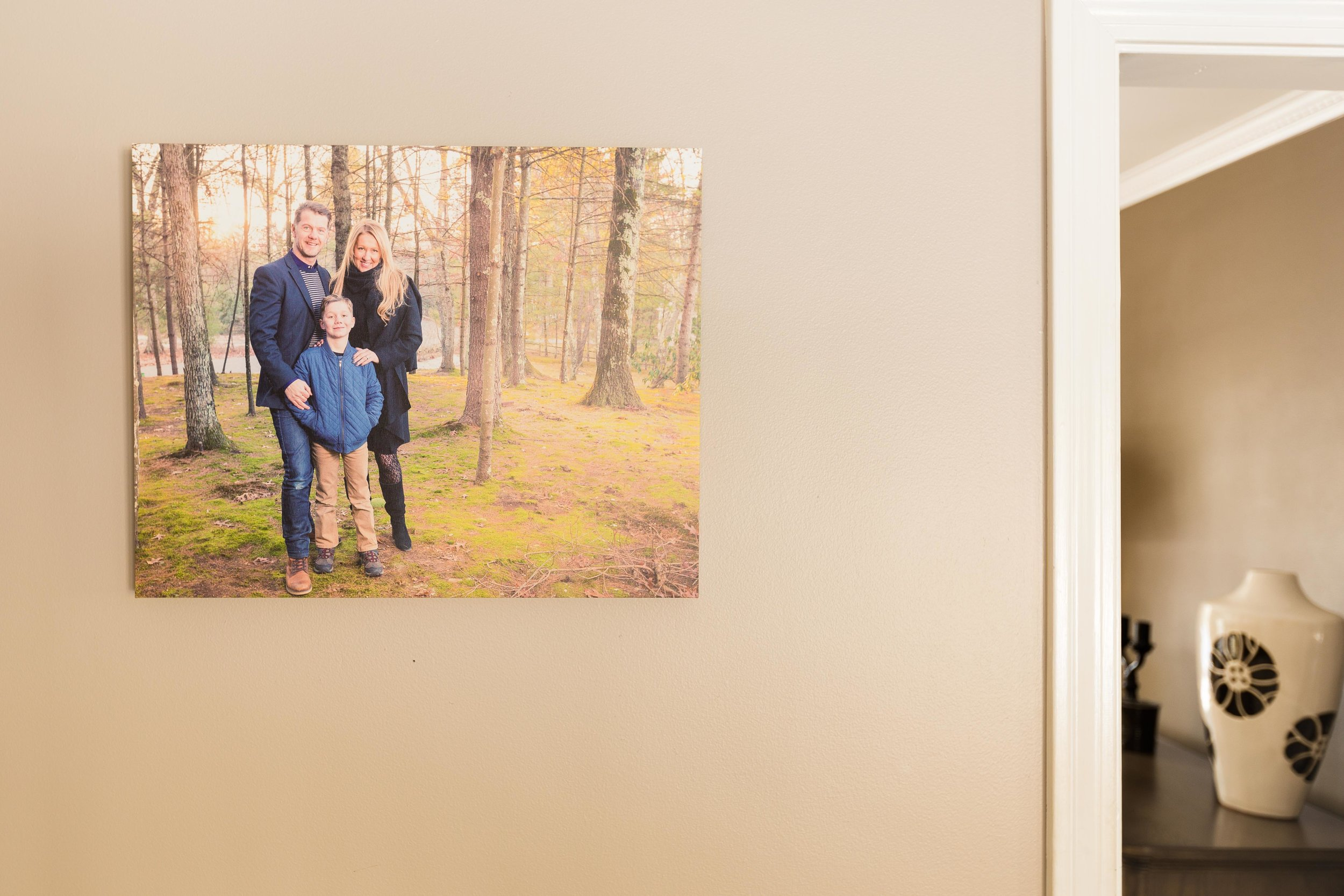 Canvas print on the wall creates memories
