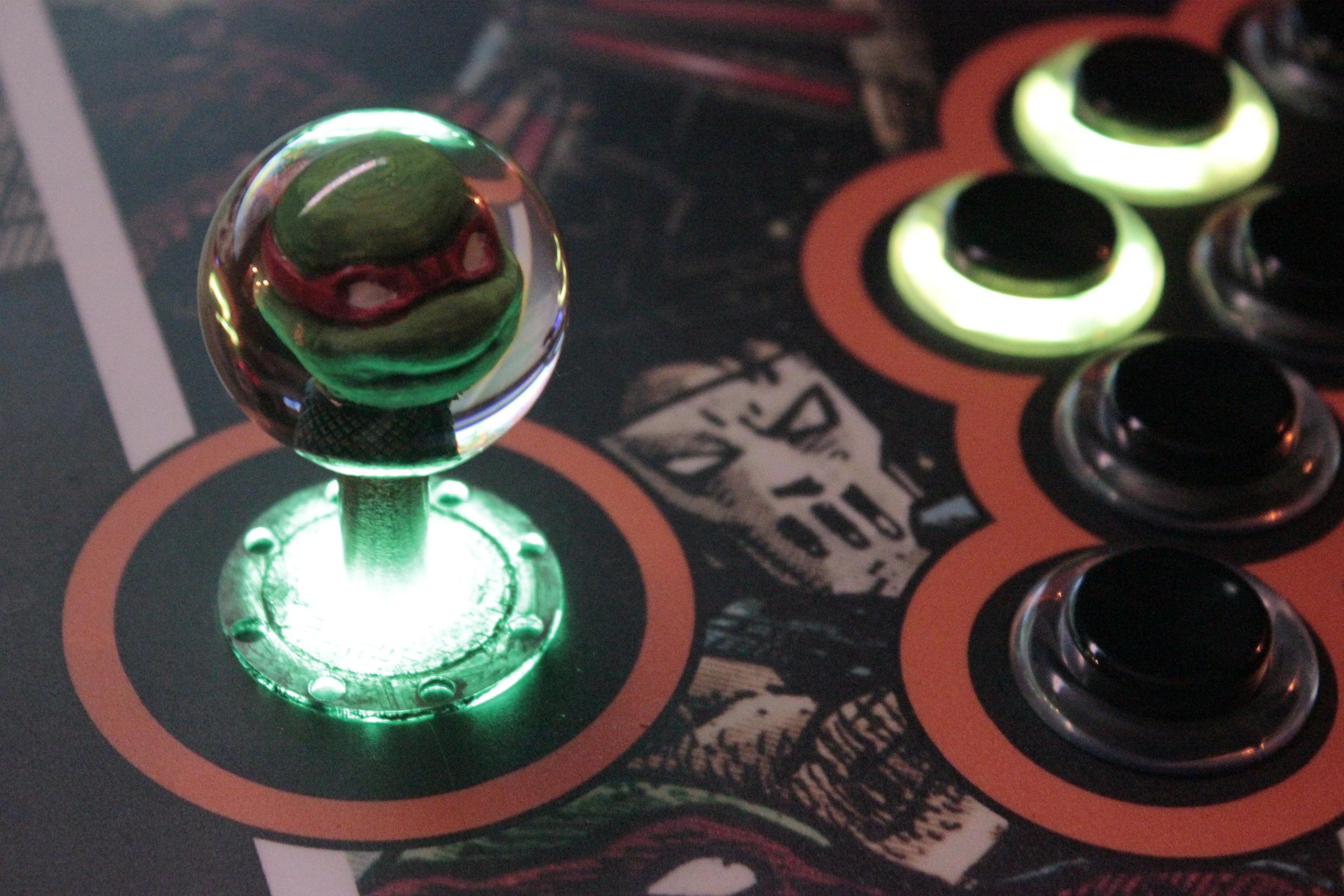 TMNT arcade with custom balltops