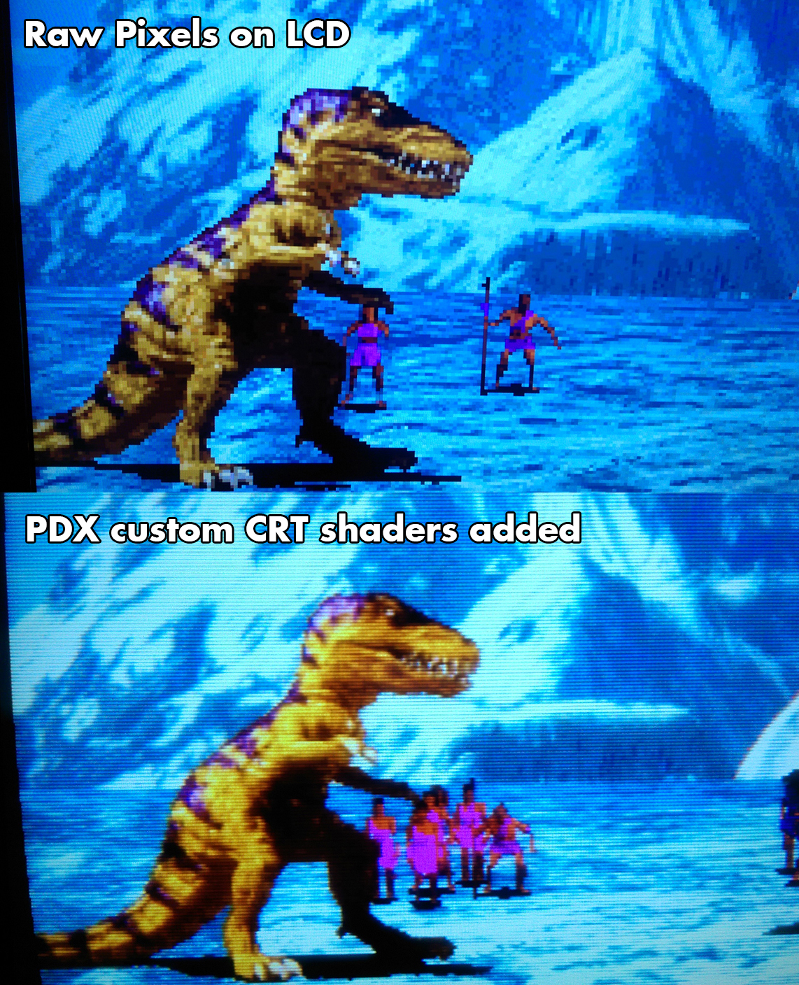 Improved retrogames on LCD screens through custom shaders