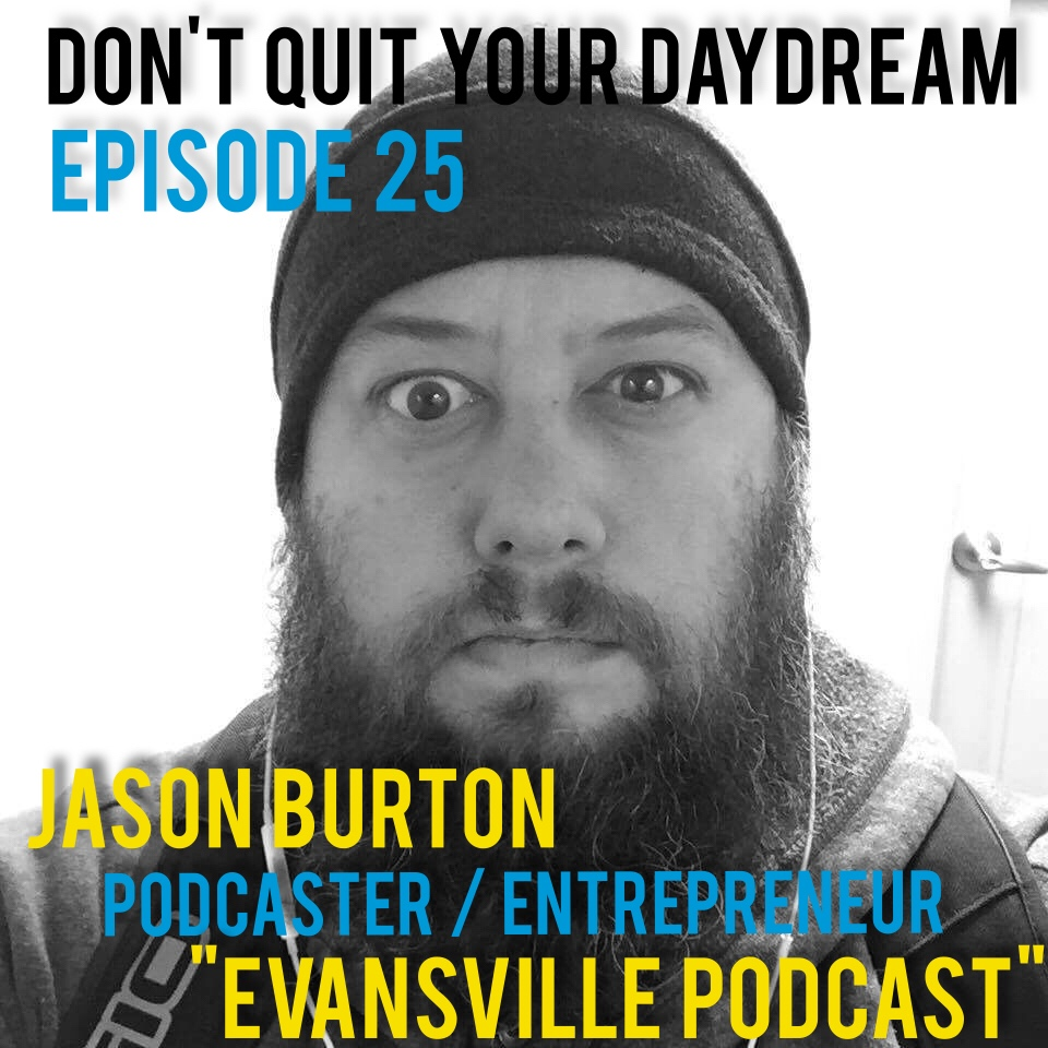 "The voice of ""Evansville Podcast"" Jason Burton joins us this week to discuss the importance of community and why he utilizes his platform to champion the city he lives in. Jason details how he's grown as an interviewer through the years and the impact of a good conversation. Check out Jason's own podcast to hear more of his perfect radio voice:    https://itunes.apple.com/us/podcast/evansville-podcast/id778680166?mt=2     or     http://evansvillepodcast.com       Also starting with this episode we will begin featuring music from friends of the show. What better way to kick us off than playing something from our very first guest Shane Klos! Shane's band Suncoast Ultra is steadily growing in the vaporwave scene and giving people everywhere a reason to dance. Check out their song ""Lazarus"" after the interview and then download it for yourself at  https://soundcloud.com/suncoastultra"