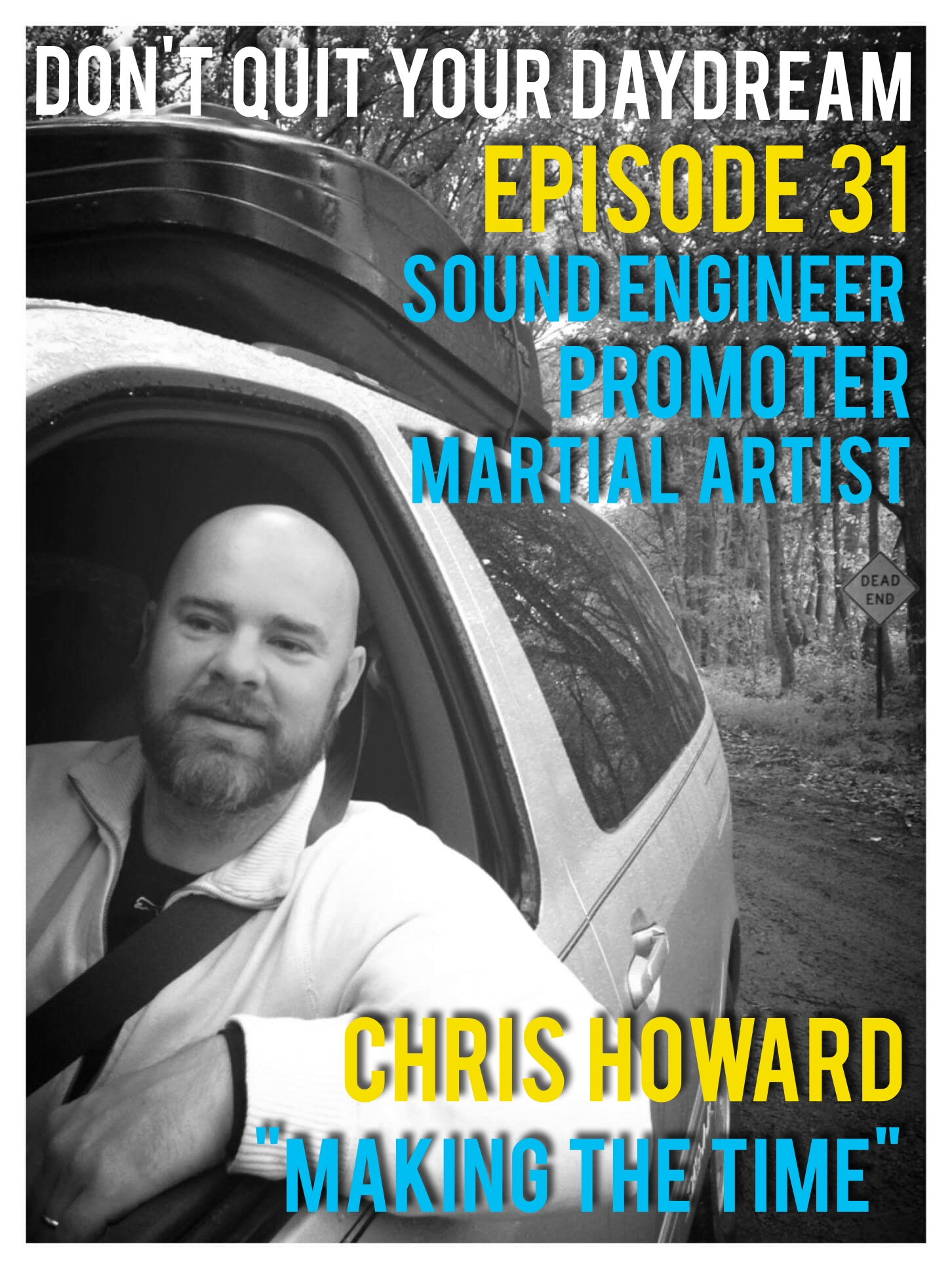 "This week's guest Chris Howard is the perfect representative of someone who never quits their daydream. Chris is truly one of the busiest people we know as he is able to maintain a superb balance between countless hobbies and his family life. He joins us to discuss sound engineering, practicing Brazilian Jiu-Jitsu and promoting for the fantastic rock/blues band Calabash! Chris gives great advice during this whole episode so get your pen and notebook ready.     Song of the Week: ""Upside Down"" by Calabash. This is just one of many great songs being released by the band's new album, which will be out on Oct 29th. If you are an ""Evansvillian"", come join us at their album release party hosted by Lamasco's Bar and Grill! Make sure to follow them along and catch a live show ASAP. https://www.facebook.com/calabashband/"