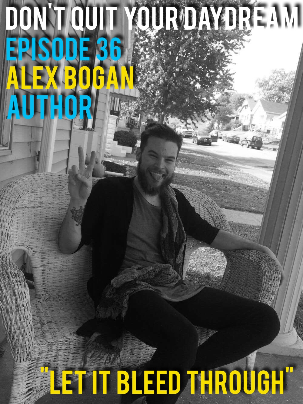 "Our guest for Episode 36 is newly published writer, Alex Bogan. Cultivating short stories from personal beliefs and experiences, Alex has uniquely crafted a series of short stories which act like a window into his brain. Both charming and sincere we quickly became fast fans of Alex and his work and we think you will too. Check out his publisher Sarell Publishing House to follow along on Alex's literary journey!  https://m.facebook.com/SarellPublishingHouse/?__mref=message_bubble   http://www.sarellpubhouse.com/      Song of the week is ""Found"" from the instrumental guru, Sigmund! Freestyle your heart out to this song and may others which can be found at:  https://soundcloud.com/sigmundvelch/  https://www.facebook.com/SigmundVelch/"