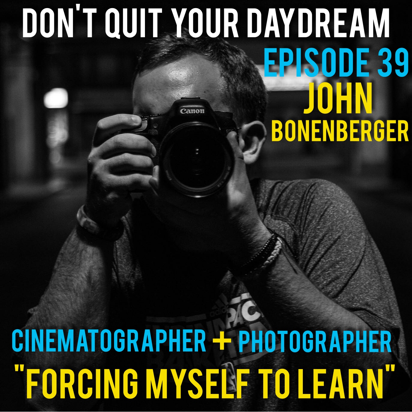 "Episode 39 we sit down with accomplished cinematographer and photographer, John Bonenbeger! He's worked on projects for the NFL, singer Fantasia, comedian Hal Sparks and shows that appear on Bravo! Television. After cultivating his own skills editing and shooting footage in the Midwest John has found success in the world of television after a move out to Los Angeles. John perfectly paints a picture of the competitive nature of the film industry and details steps one must take to gain an advantage.          Song of the week is ""I Like"" by fun hip hop trio Angry Nerdz! Check out more of their tracks which are perfect for any party mix by going to  https://angrynerdz.bandcamp.com/"