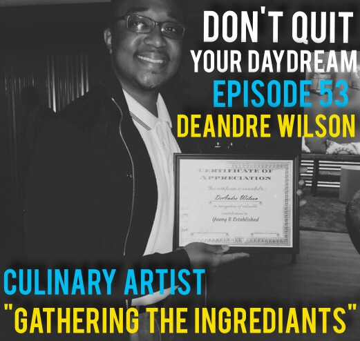 "Episode 53 is with Culinary Artist and soon to be Food Truck Entrepreneur: DeAndre Wilson! Compiling both recipes and business advice from restaurant owners and college courses DeAndre tells us about his full proof plan of entering the food truck landscape. Innovative and plugged into the community this is the perfect chat for those looking into starting their own business. Take a look at DeAndre's wonderful food concoctions:  https://www.instagram.com/turntablellc/   Song of the week is ""Don't Step on the Azaleas"" by young politically minded hip hop artist, Rhyme Taylor. Give a listen to his catalog of awesome songs:  https://soundcloud.com/rhyme-taylor"