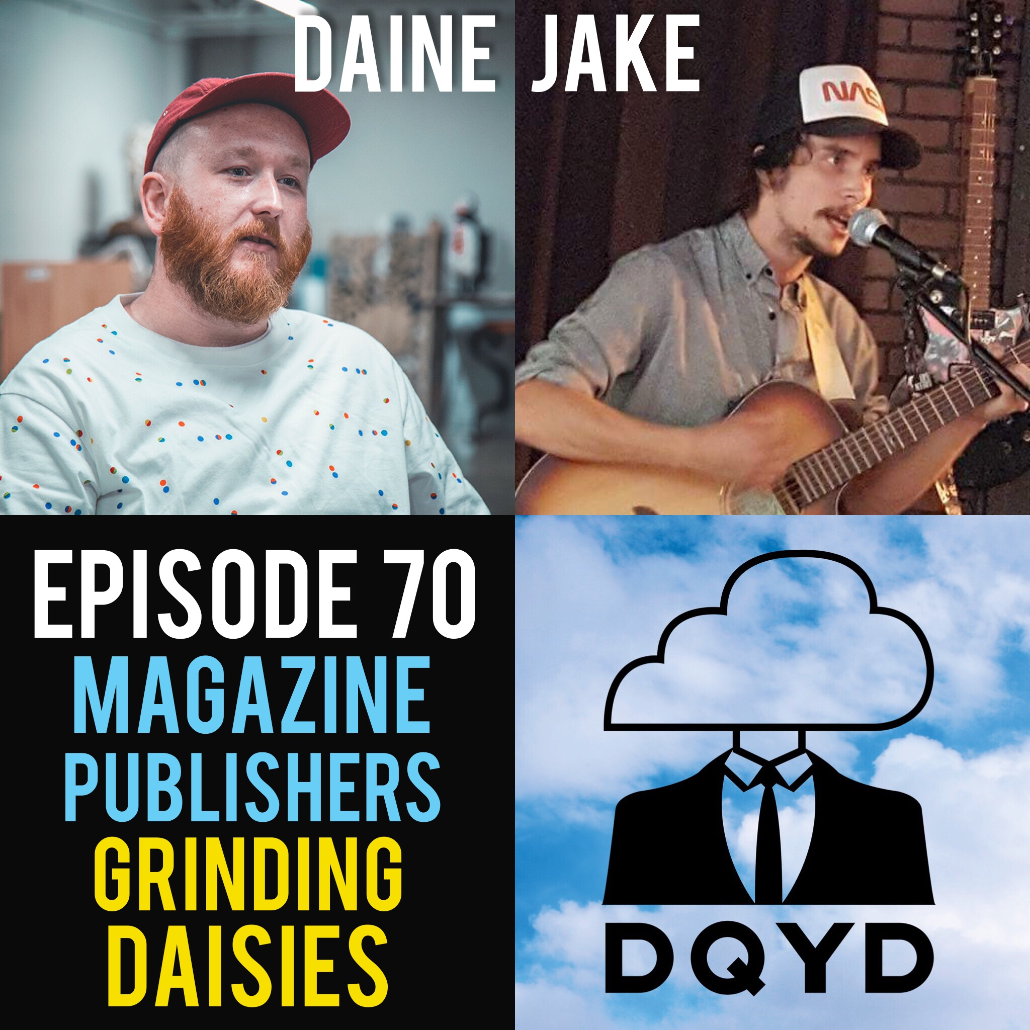"Episode 70 with Magazine Publishers: Daine Goolsby and Jake Bethel of Grinding Daisies! Daine and Jake join us to discuss the love, passion and hard work behind their new magazine and how they prepare to bring tough issues to the forefront of conversation. Discussing art, religion, politics and social issues Grinding Daisies plans to serve as a platform for people to explain their viewpoint with others and solve differences by understanding. https://www.facebook.com/search/top/?q=grinding%20daisies  Song of the Week is ""Interlude"" by NeRo AnGeLo. Check him out! https://www.facebook.com/neezyangelic/"