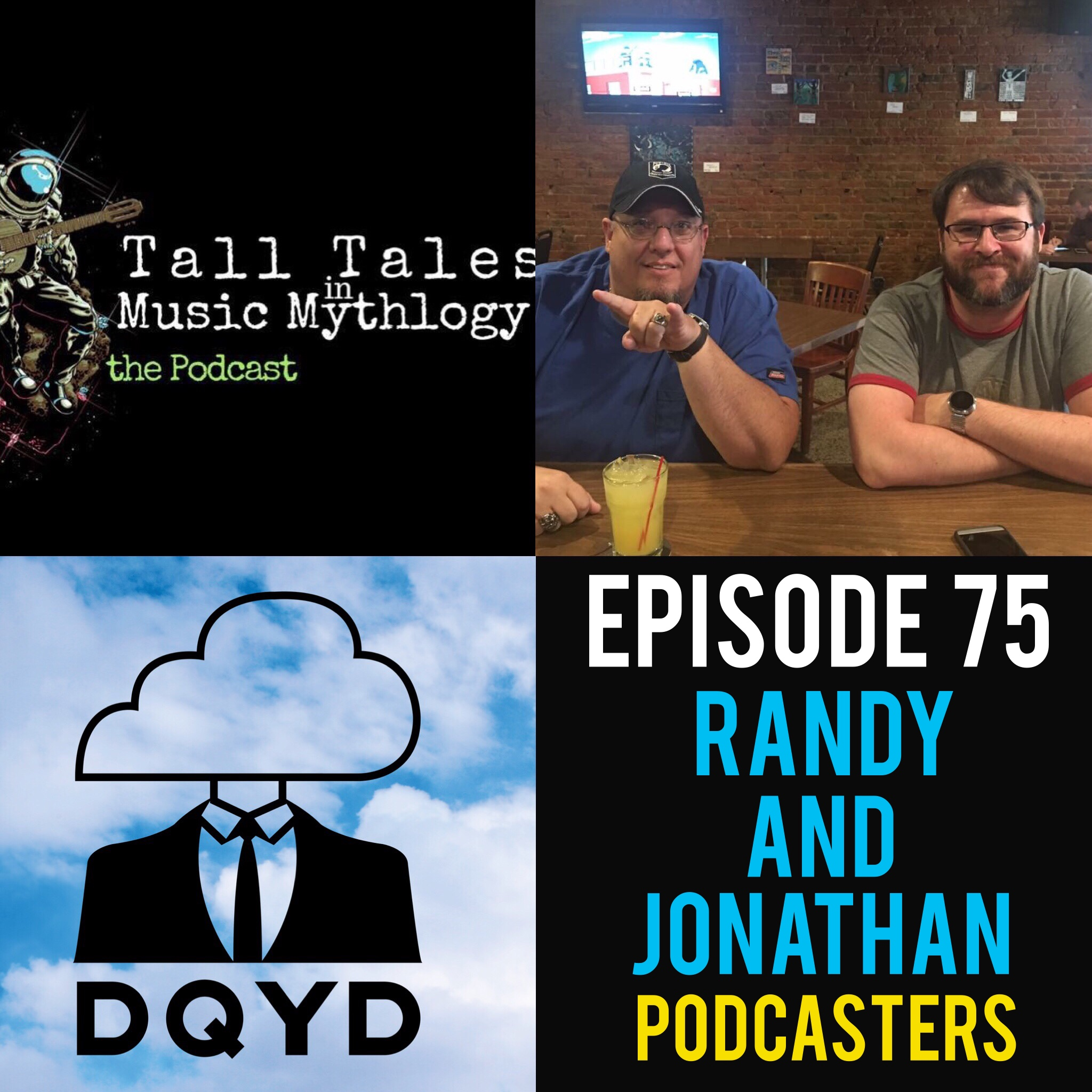 """Episode 75 with Podcasters: Randy and Jonathan of Tall Tales in Music Mythology! With two completely different experiences in the music industry, Jon and Randy combine their stories and passion to create their wonderful podcast Tall Tales in Music Mythology. Discussing fun rumor and myths their podcast is highly entertaining on a weekly basis. Check it out!  https://www.facebook.com/T2M2Podcast/   https://t2m2.podbean.com/   Song of the week is """"My Eyes' from the super talented Northam. Find more of their rad tunes by visiting: https://www.facebook.com/NorthamMusic/"""