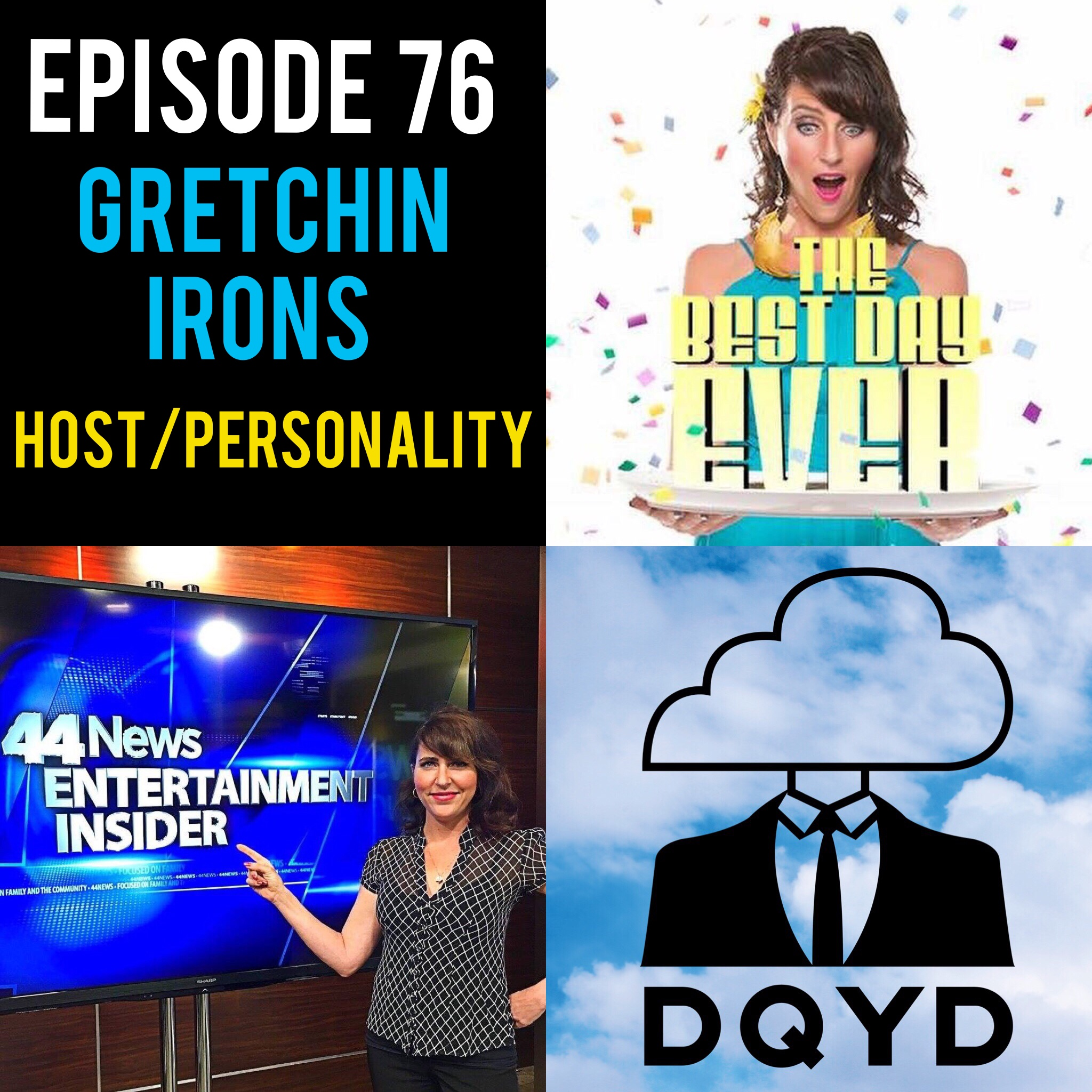 """Episode 76 with Host and TV Personality: Gretchin Irons! Host of """"The Best Day Ever"""", Gretchin is a whirlwind of energy, laughter and information on fun events happening around the city. Immensely talented behind and in front of the camera she details the hard work and sacrifices it takes to make a dream a reality. Follow her along by visiting:  https://www.facebook.com/TheBestDayEverEvv/   Song of the week is """"Make a Little Time"""" from the rad dudes The Jangle Sheep. Check em out! https://www.bandmix.com/sean1092506/"""