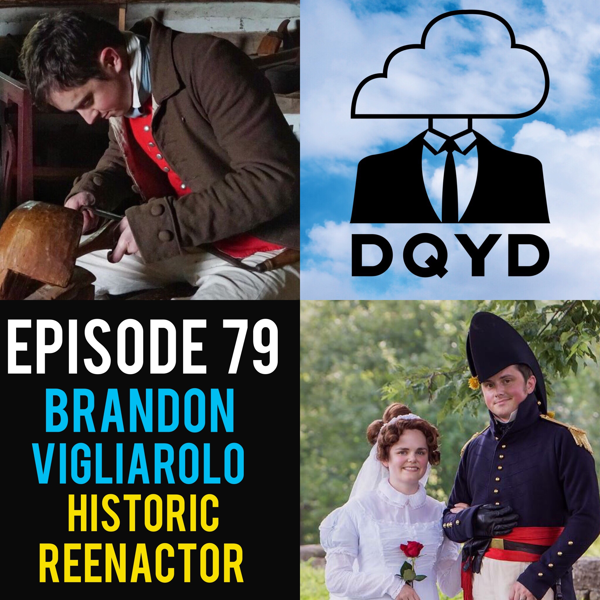 """Episode 79 with Historic Reenactor: Brandon Vigliarolo! Brandon brings people of the past back alive as an actor at the historic Locust Grove. Playing a variety of individuals from different time periods he breaks down his methods in developing each character. Full of awesome facts, fun stories with interacting with the public and how his loving wife hand makes all of his outfits, this is one of our favorite chats yet. Find Brandon by visiting:  http://locustgrove.org/   https://www.instagram.com/il.rilegatore/   Song of the week is """"Horsehead"""" by The Jangle Sheep!  https://www.facebook.com/texastandthejanglesheep/"""