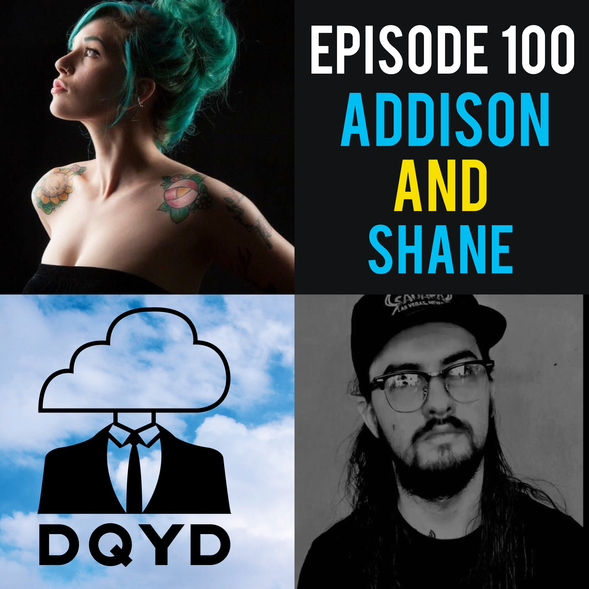 Episode 100 with Tattoo Artists: Addison Edge & Shane Klos! Episode 100 is here and what better way to celebrate than bringing back some of our favorite previous guests? Addie and Shane have been standouts of the Evansville tattoo community for several years now and have collected tons of hilarious stories along the way. Help us celebrate our milestone!  Song of the Week is Fake Plants by Suncoast Ultra!