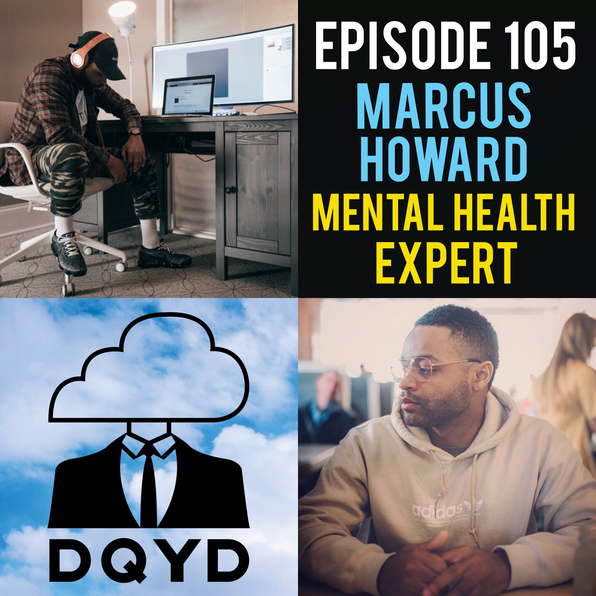 """Episode 105 with Mental Health Expert: Marcus Howard! From hosting several podcasts focused on mental health to working various occupations in the field, Marcus has made it his life's mission to assist those having mental health issues. He has gathered academic, professional and personal experience to develop ways to help cope day in and day out. Check out his very own podcast by going to:  https://soundcloud.com/user-353344268/mindful-recovery-podcast-with-marcus-howard-episode-38-drugs-addiction   Song of the week is """"Donor"""" by Ki Redd. Check him out at https://soundcloud.com/getonki"""