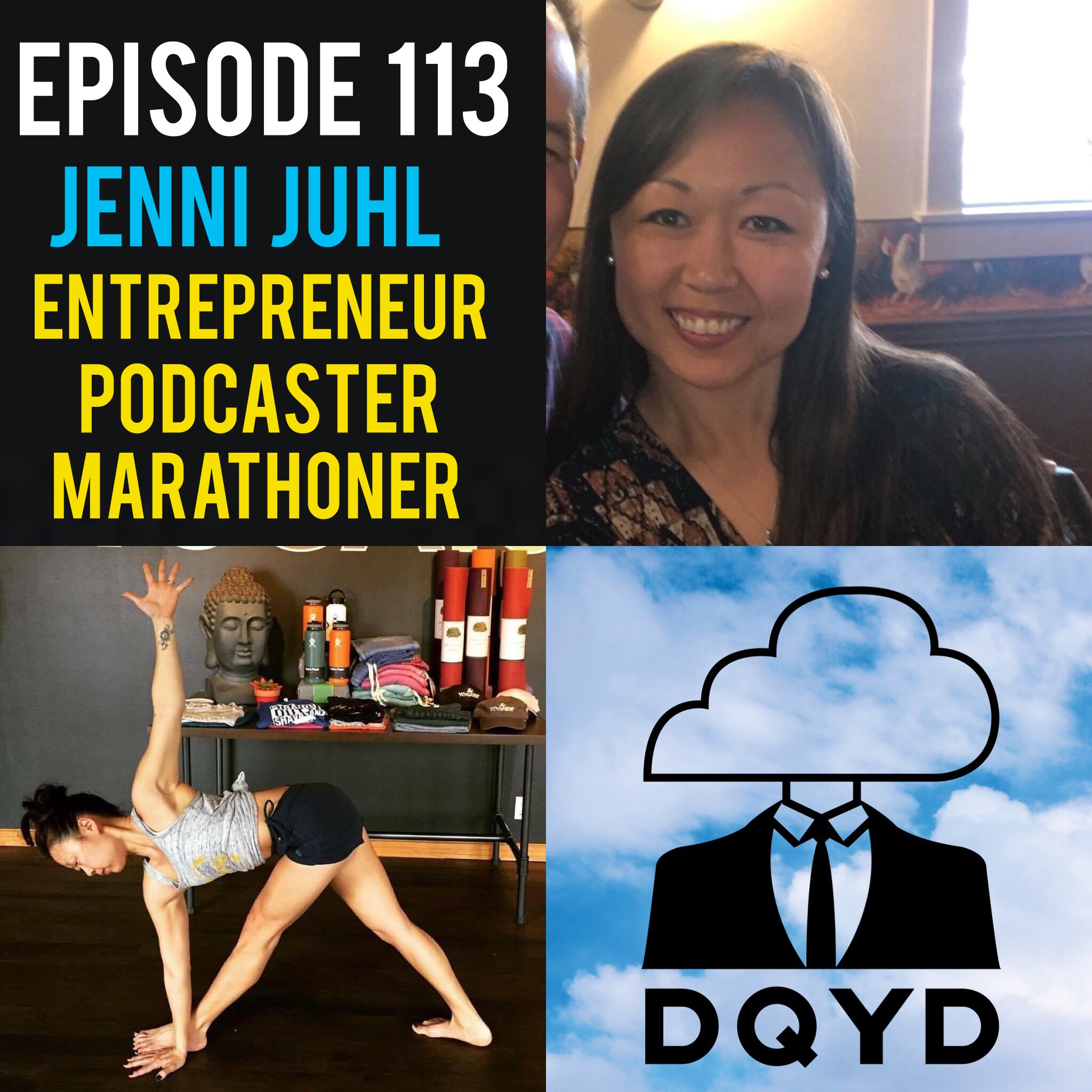 "Episode 113 with Entrepreneur, Podcaster, Marathoner and Yoga Instructor: Jenni Juhl! Perhaps one of the busiest people we have ever had on, Jenni explains how she continues to find the inspiration and drive to do more. Owner of Yoga 101 and her own financial advisory firm she still finds time for running marathons and to record her very own podcast Corageous Conversations.  Song of the week is ""Living Like the Rest"" by Thunder/Dreamer! https://thunderdreamer.bandcamp.com/"