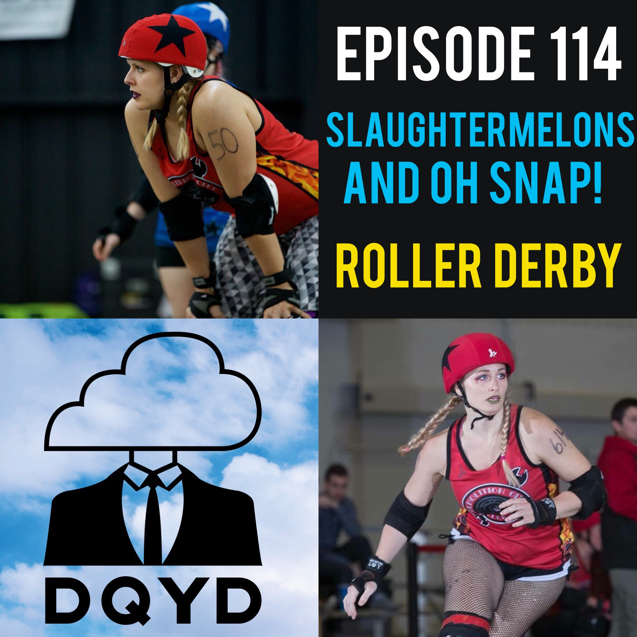 "Episode 114 with Roller Derby Teammates: Slaughtermelons (Amanda Risher) and Oh Snap (Meagan McQueen)! Representing Demolition City Roller Derby, Amanda and Meagan tell us all about the hard hits, funny moments and competitive matchups that compose the sport they love. Listen to them tell fantastic stories that will not only make you laugh but want to strap on a pair of skates as well.  Song of the week is ""Like A Movie"" by Tinman!"