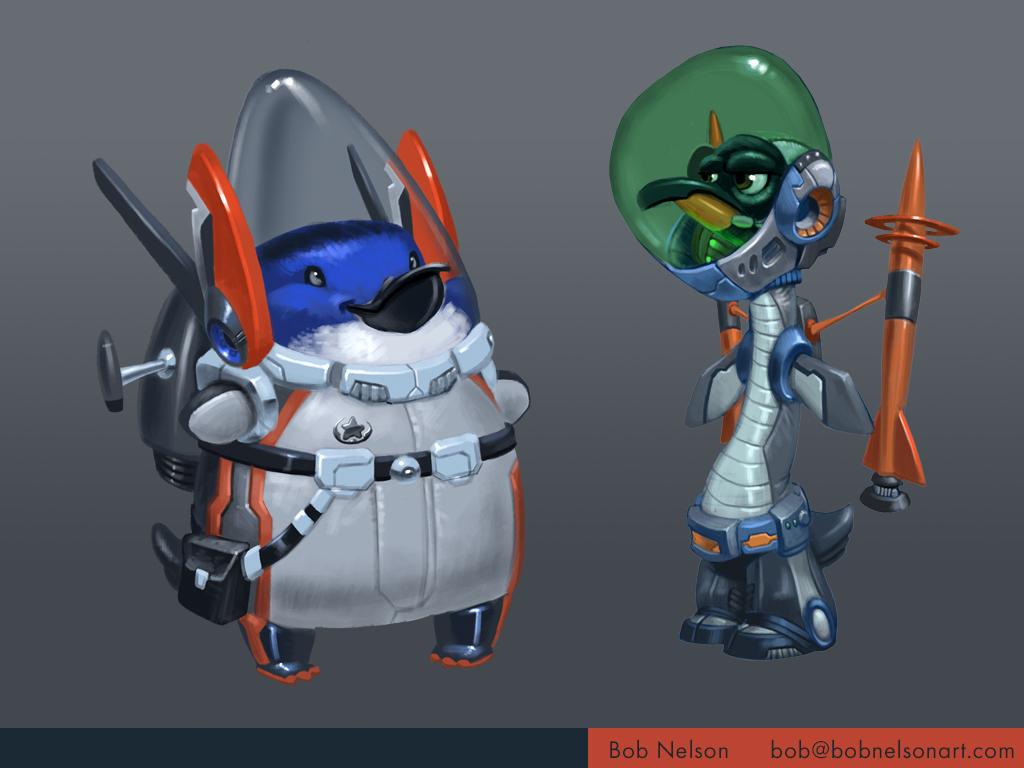 Space penguin designs