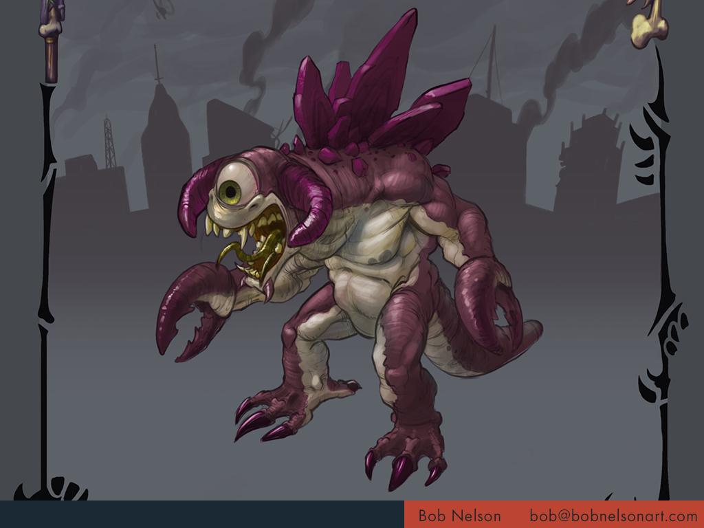 Giant monster design for destroying cities