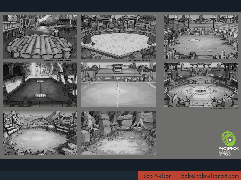 Battle arena sketches