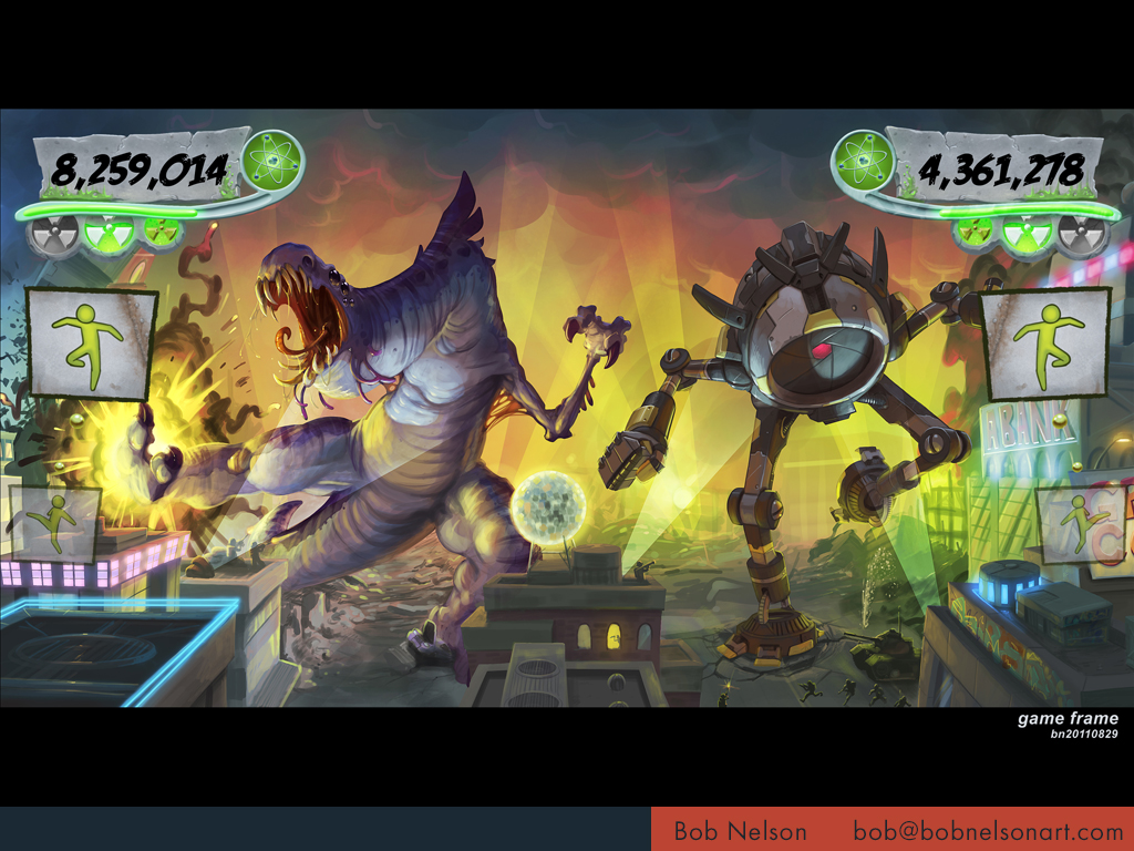 Game screen mockup