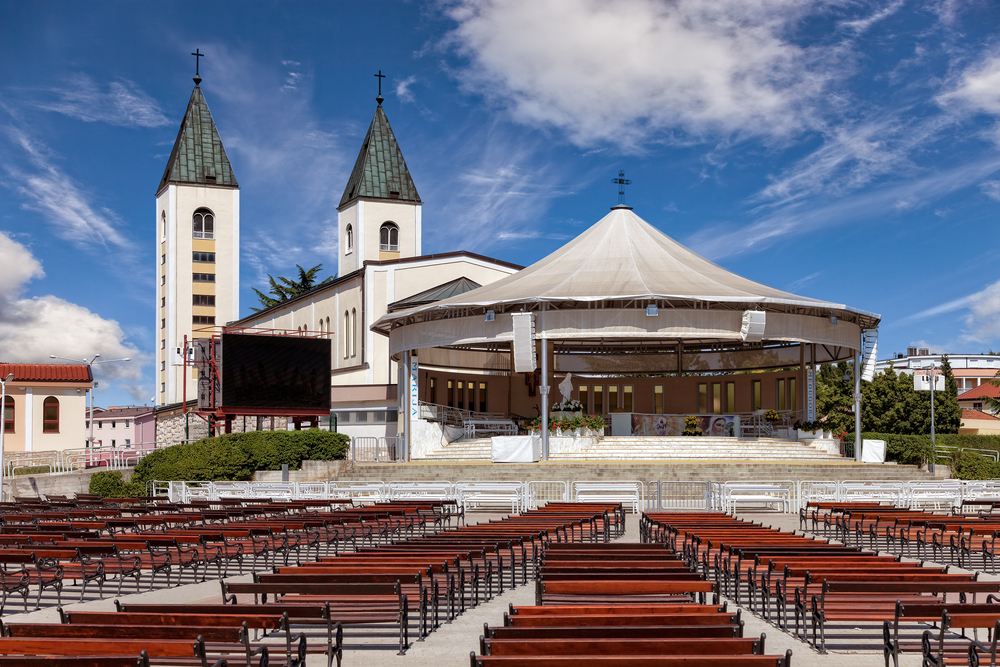 Saint James church of Medjugorje in Bosnia and Herzegovina